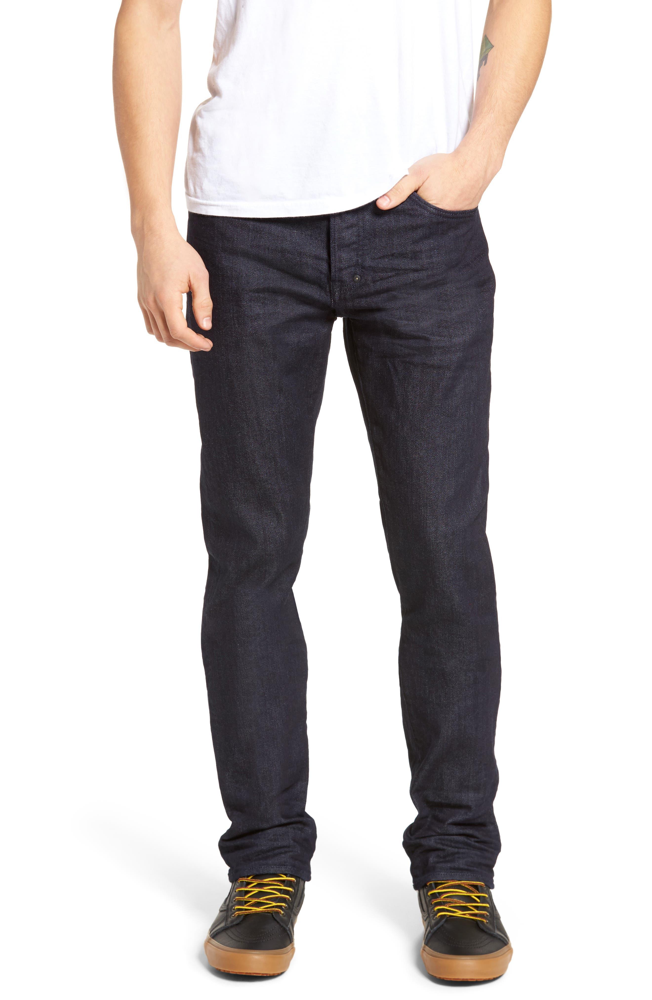Demon Slim Straight Leg Jeans,                         Main,                         color, Rinse