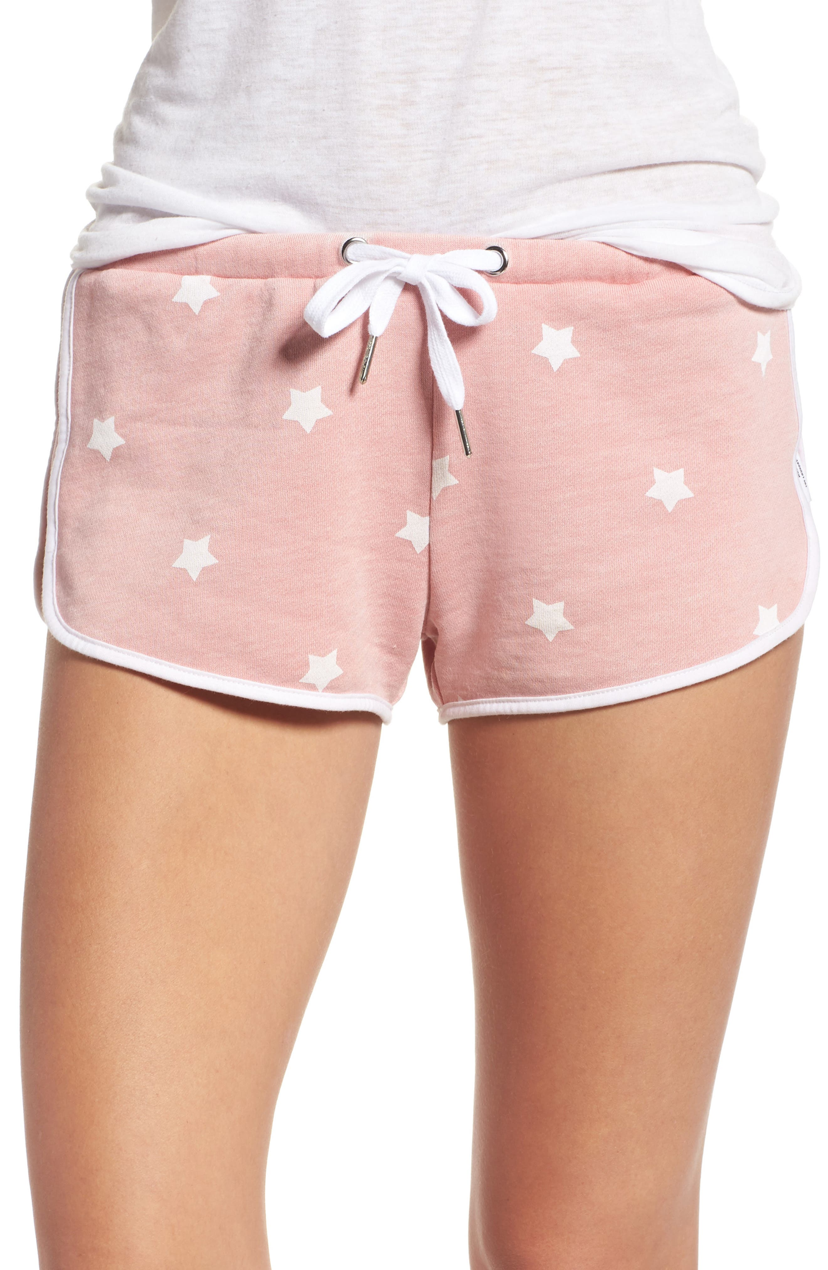 Cozy Crew Lounge Shorts,                         Main,                         color, Champagne Star