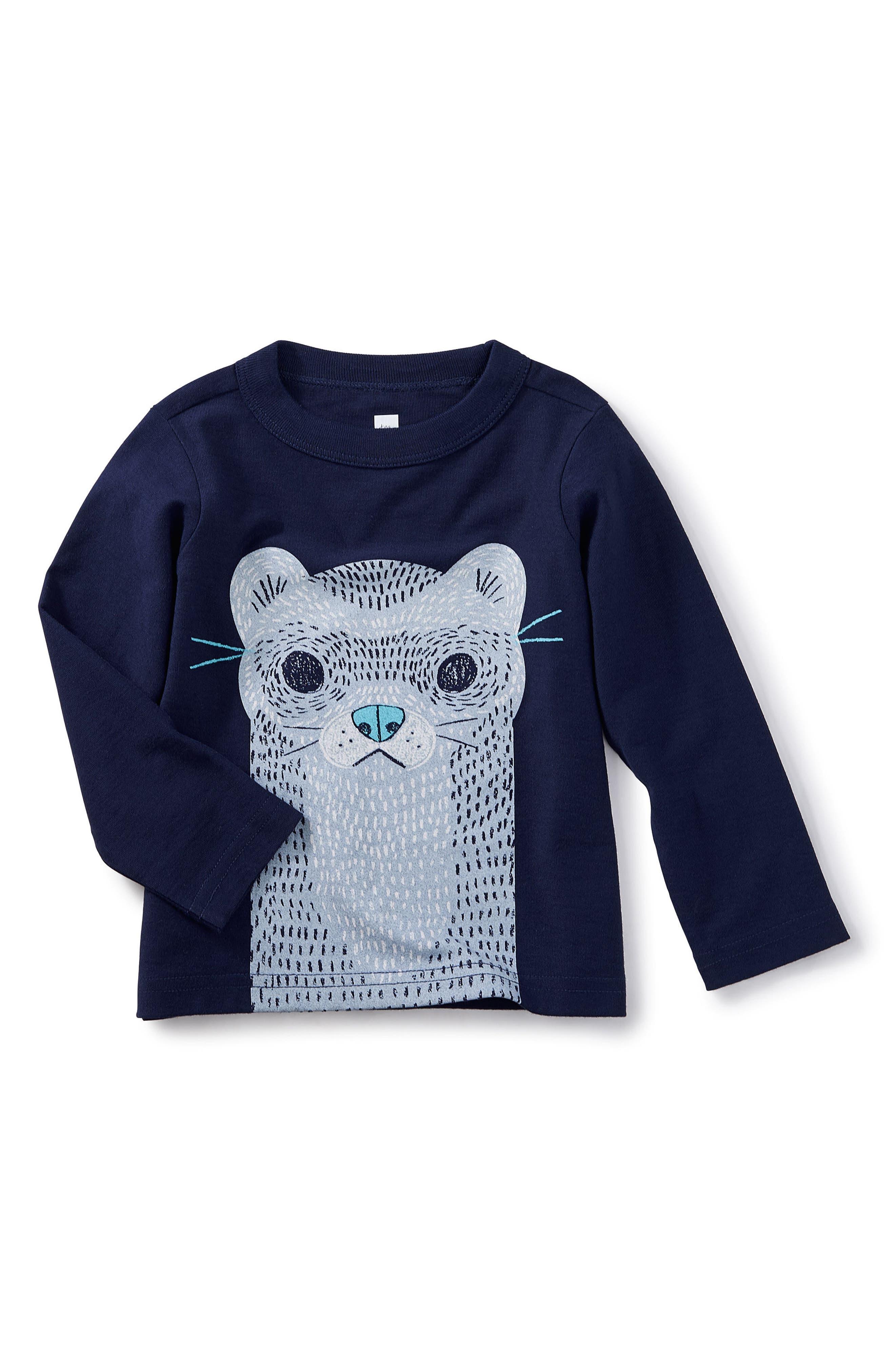 River Otter Graphic T-Shirt,                             Main thumbnail 1, color,                             Beluga
