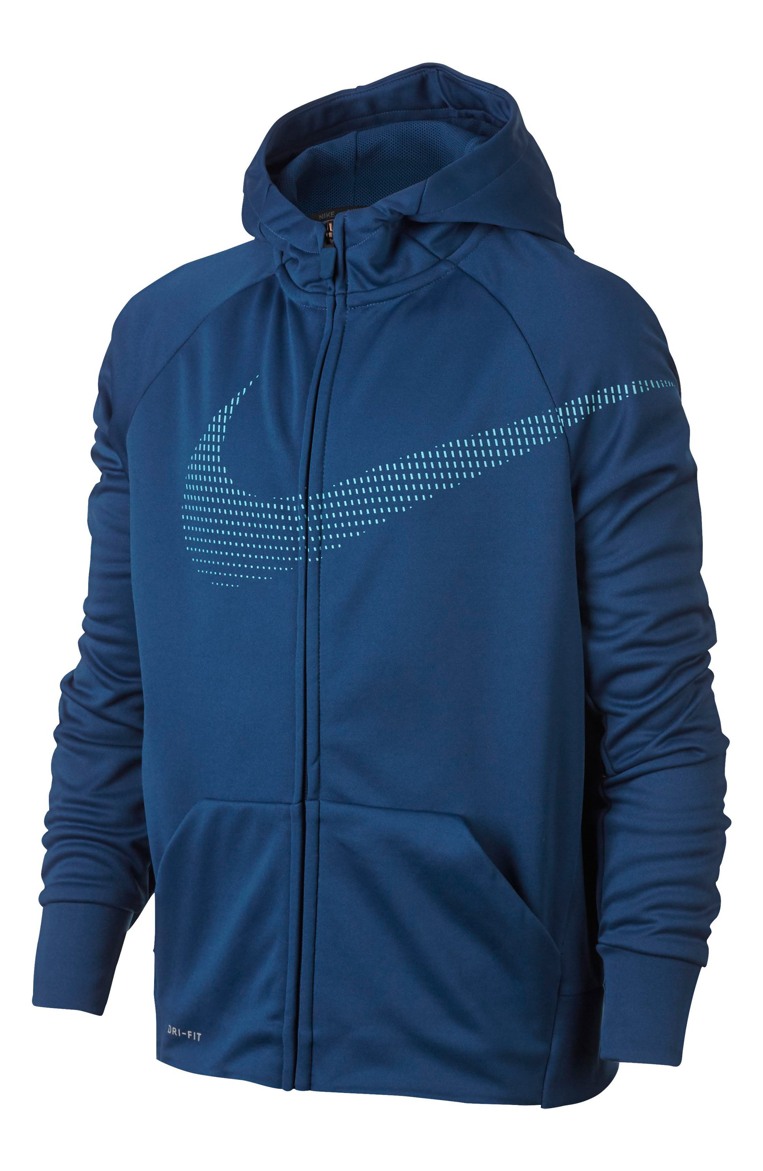 Therma Dry Hoodie,                         Main,                         color, Gym Blue