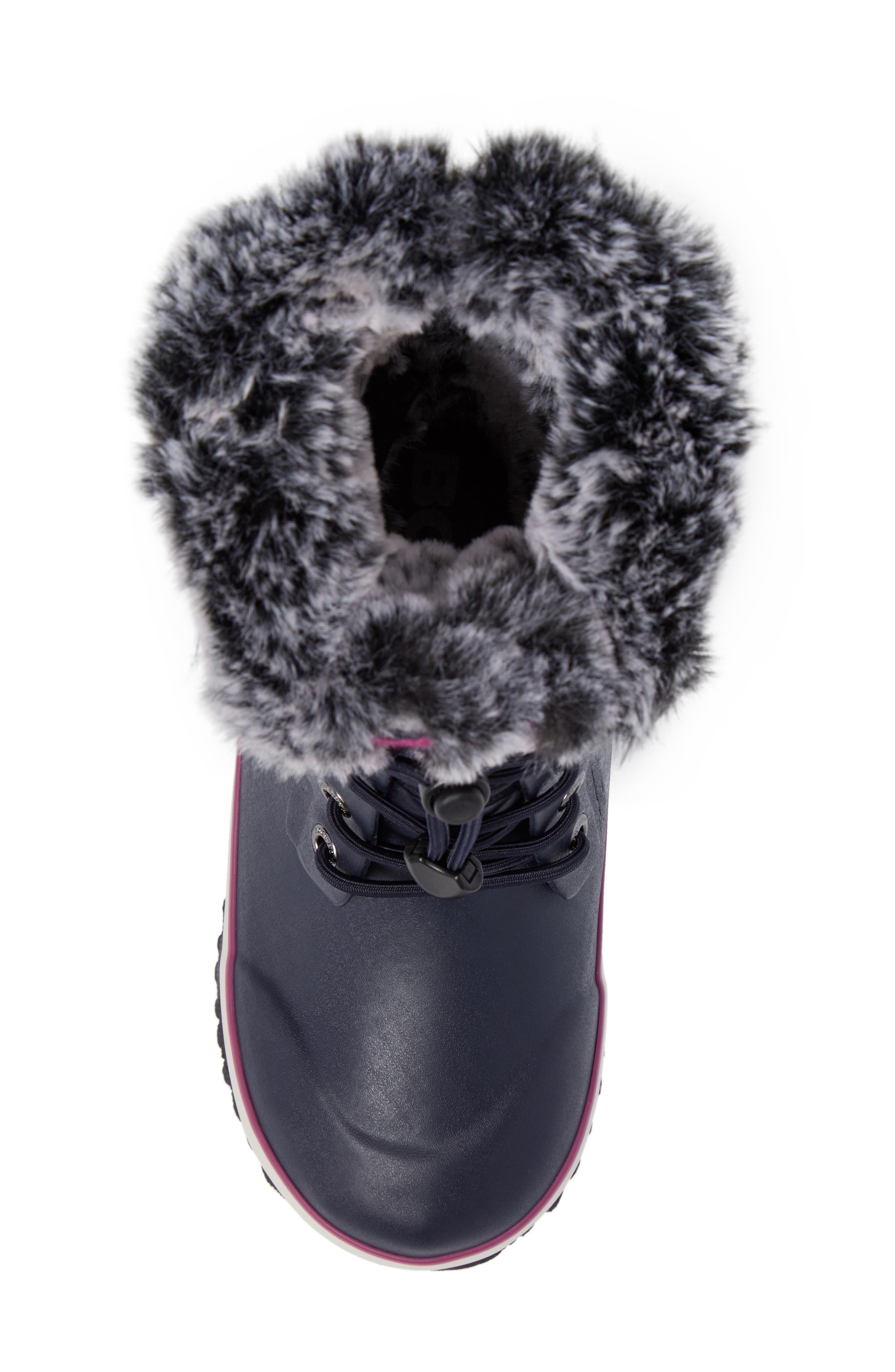 Alternate Image 5  - Bogs Arcata Stripe Waterproof Insulated Faux Fur Boot (Walker, Toddler, Little Kid & Big Kid)