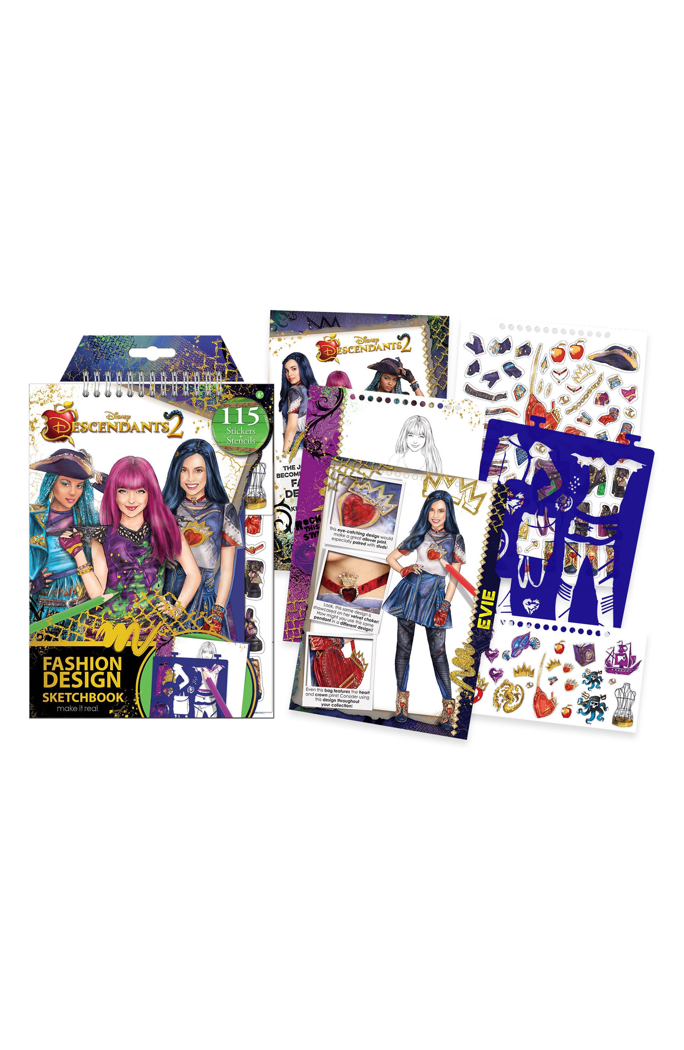 "Disney ""Descendants 2"" Sketchbook,                         Main,                         color, Multi"