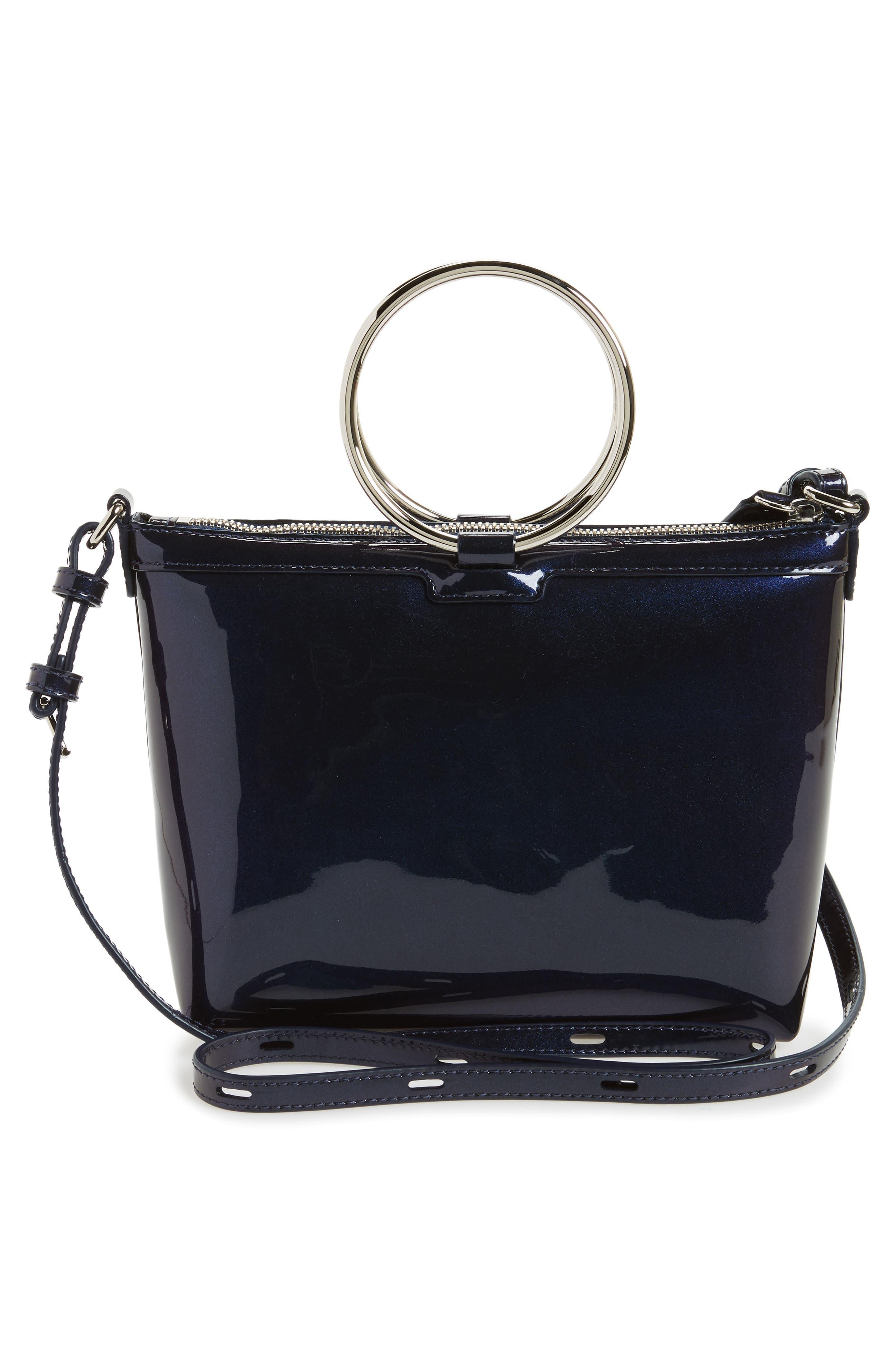 Iridescent Ring Crossbody Bag,                             Alternate thumbnail 3, color,                             Galaxy Navy