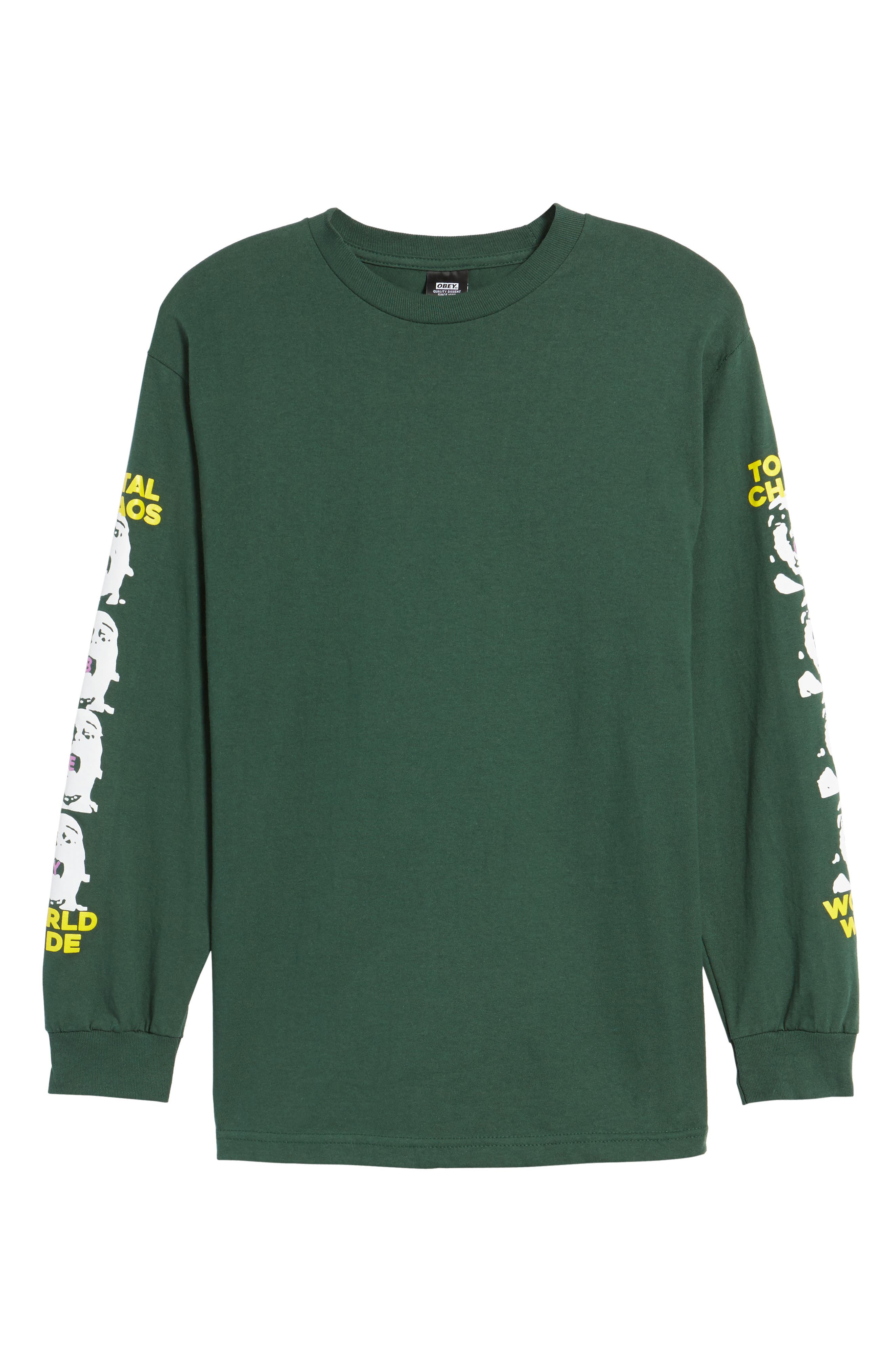 Total Chaos T-Shirt,                             Alternate thumbnail 6, color,                             Forrest Green