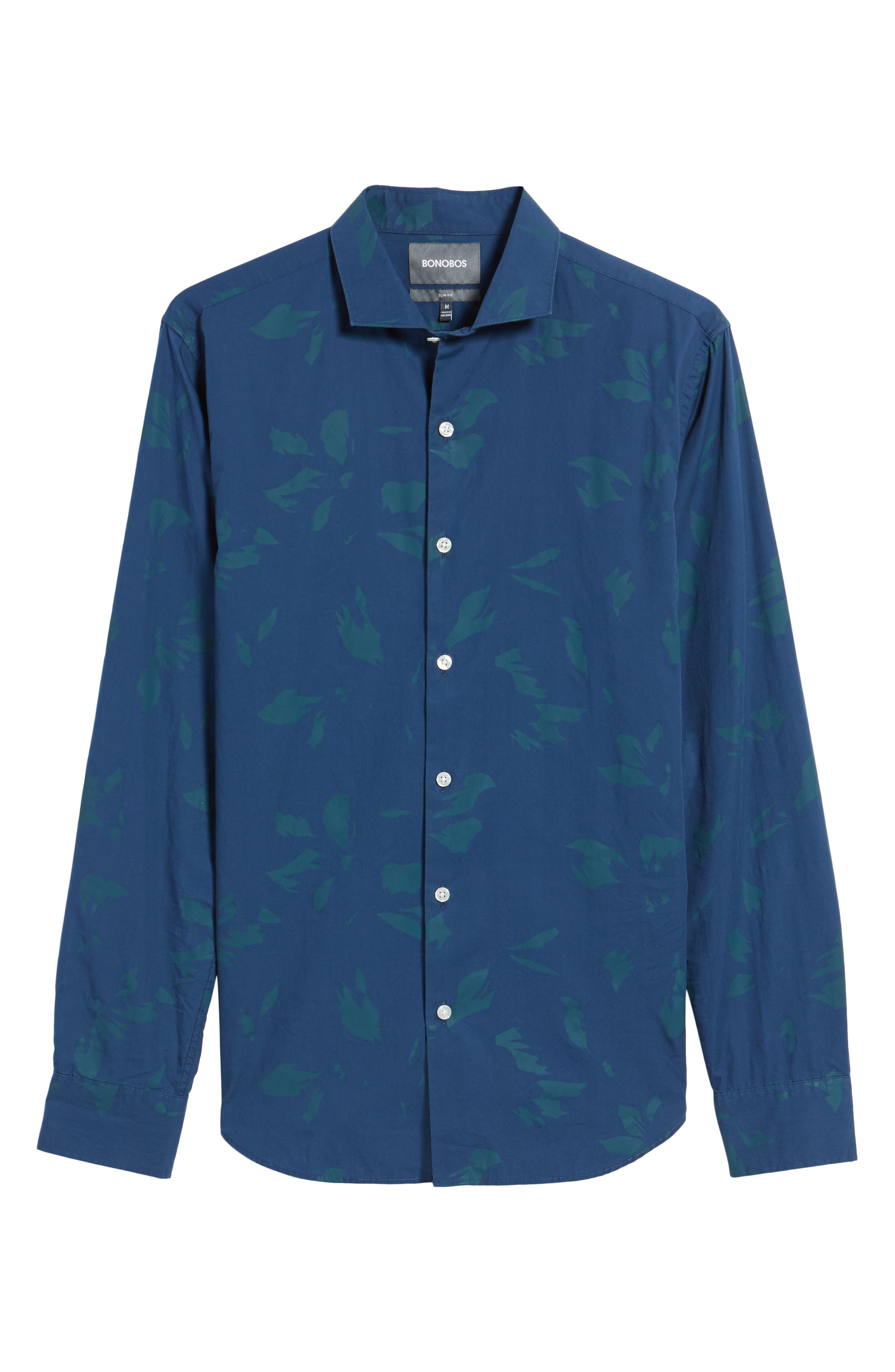 Alternate Image 6  - Bonobos Unbutton Down Slim Fit Abstract Print Sport Shirt