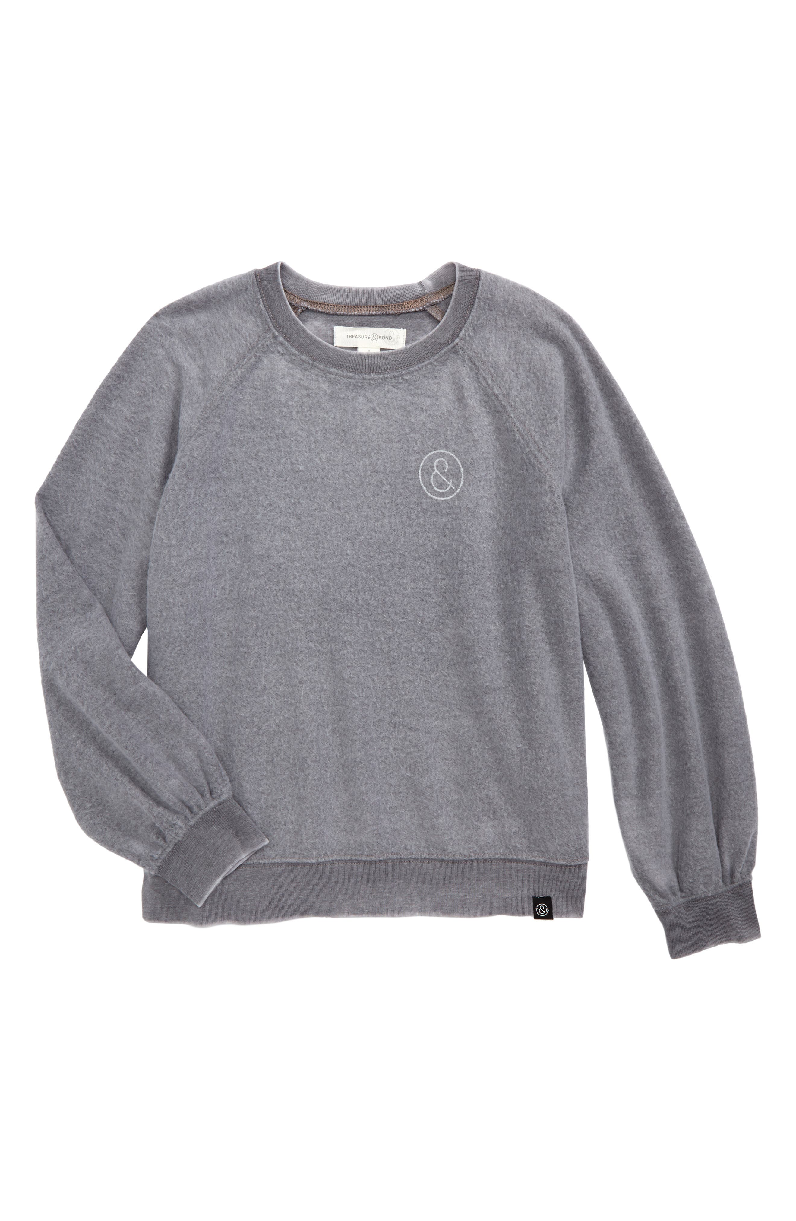 Treasure & Bond Fleece Sweatshirt (Big Girls)
