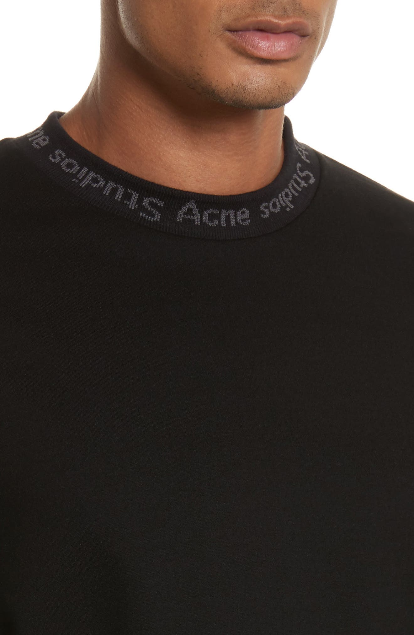 Alternate Image 4  - Acne Studios Navid Logo Collar T-Shirt