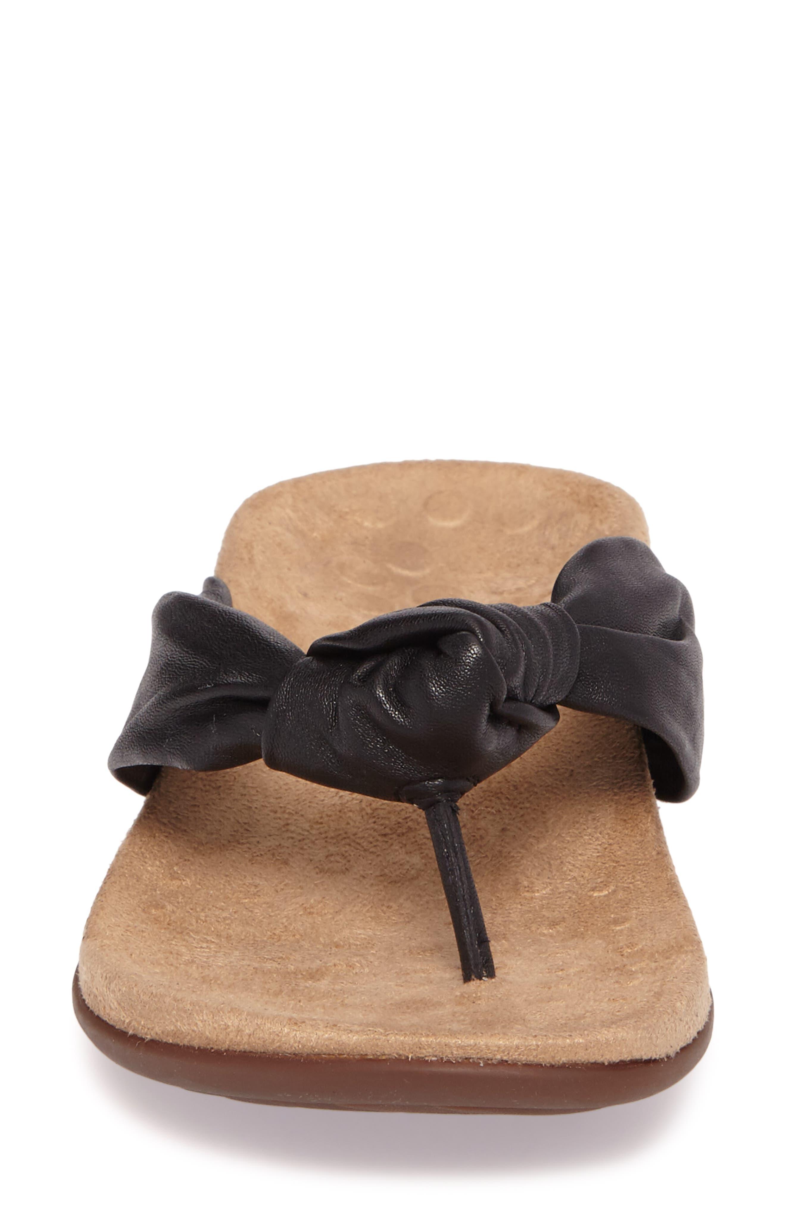 Pippa Flip Flop,                             Alternate thumbnail 4, color,                             Black Leather