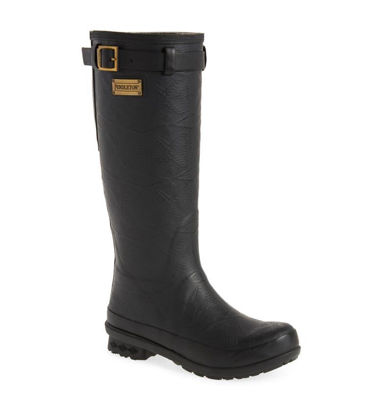 Kids Tall Black Rain Boot