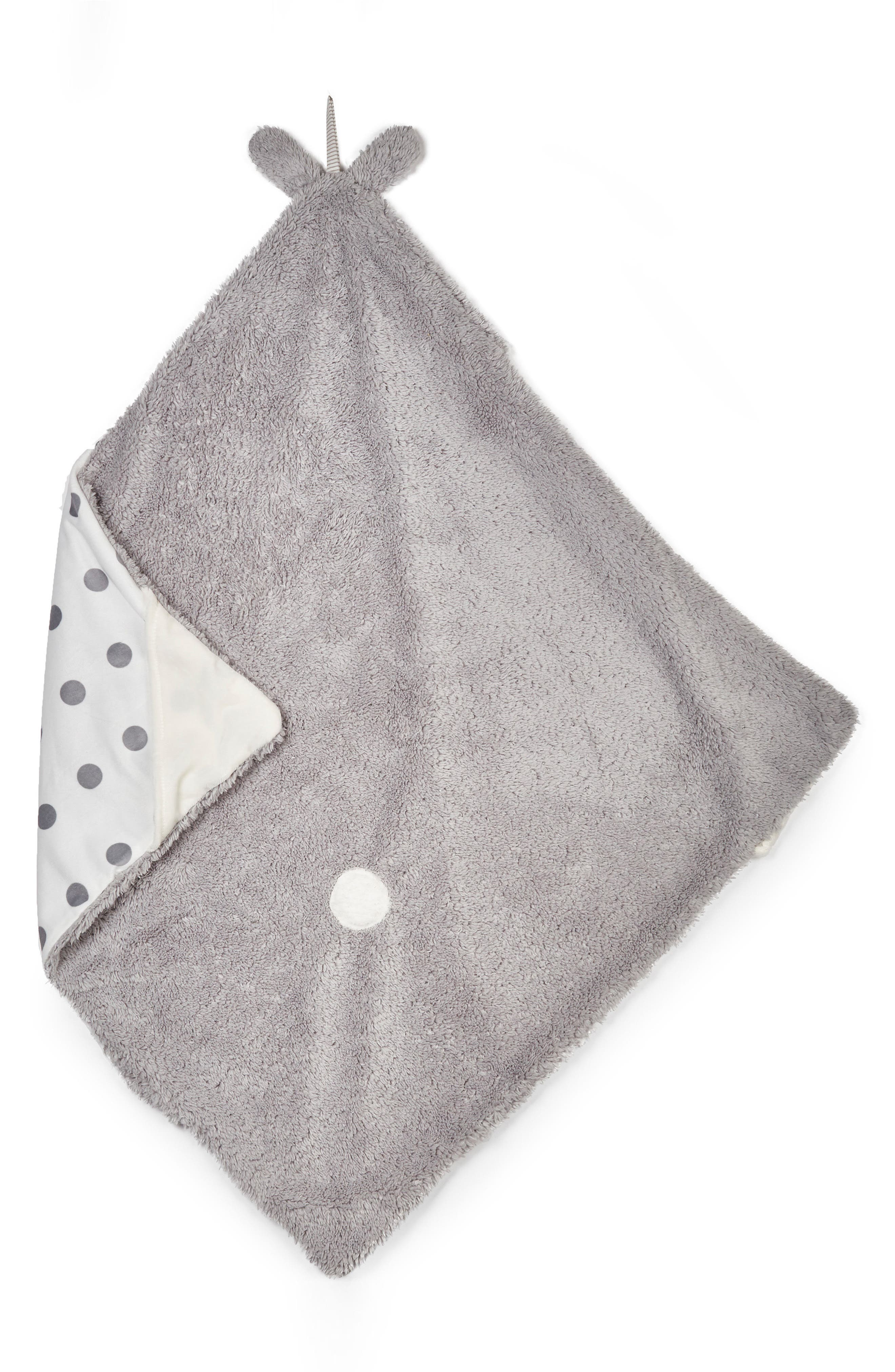 Bunny Hooded Blanket,                             Alternate thumbnail 2, color,                             Grady Grey