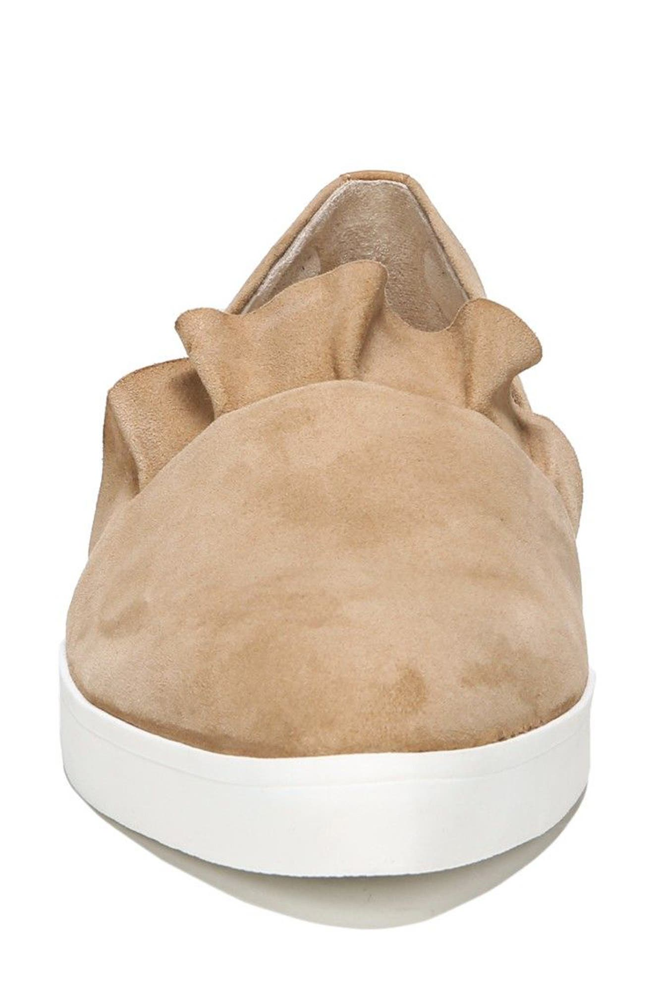 Vienna Slip-On Sneaker,                             Alternate thumbnail 4, color,                             Nude Suede
