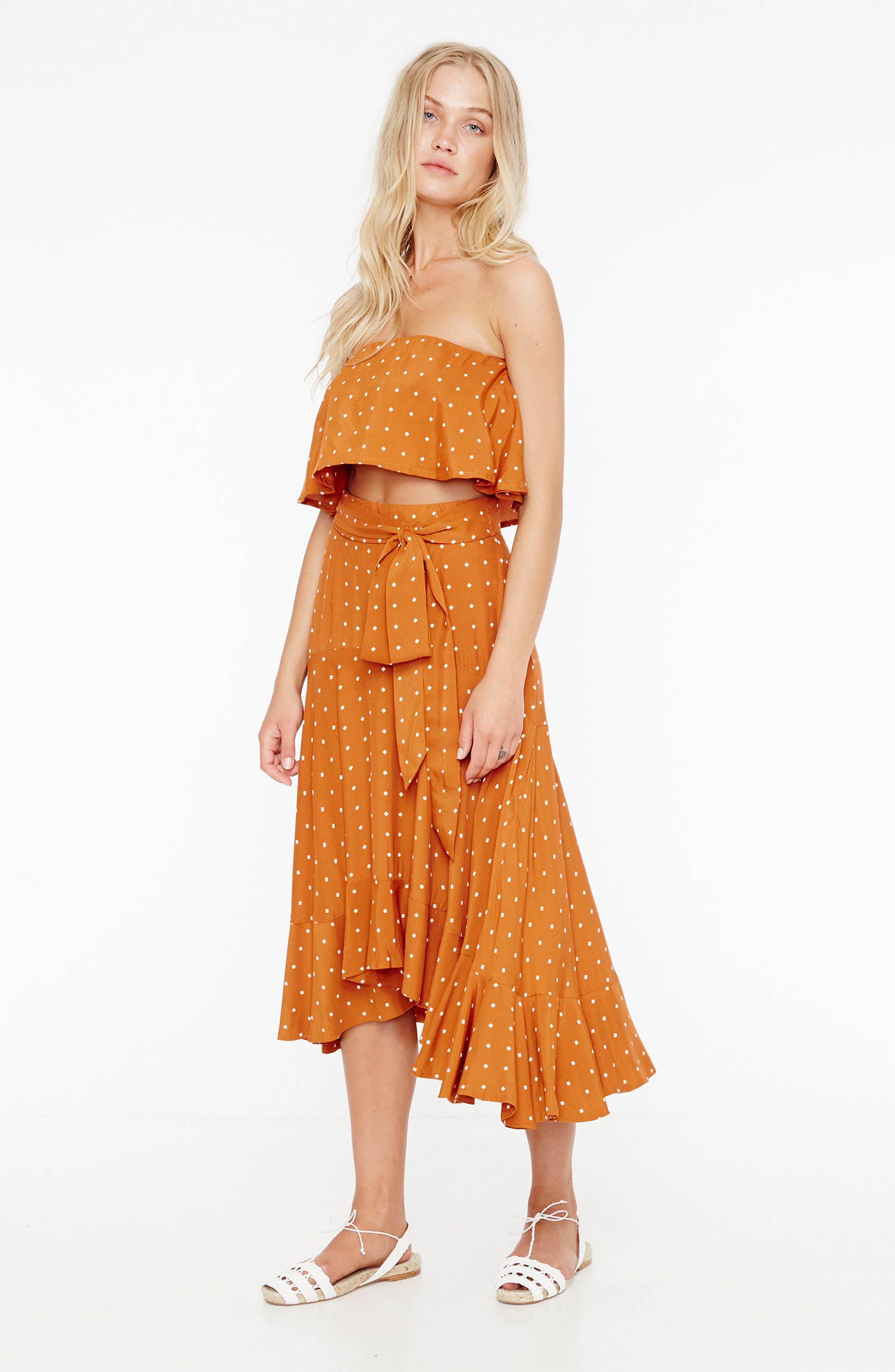 Alternate Image 2  - FAITHFULL THE BRAND Kamares Polka Dot Midi Skirt