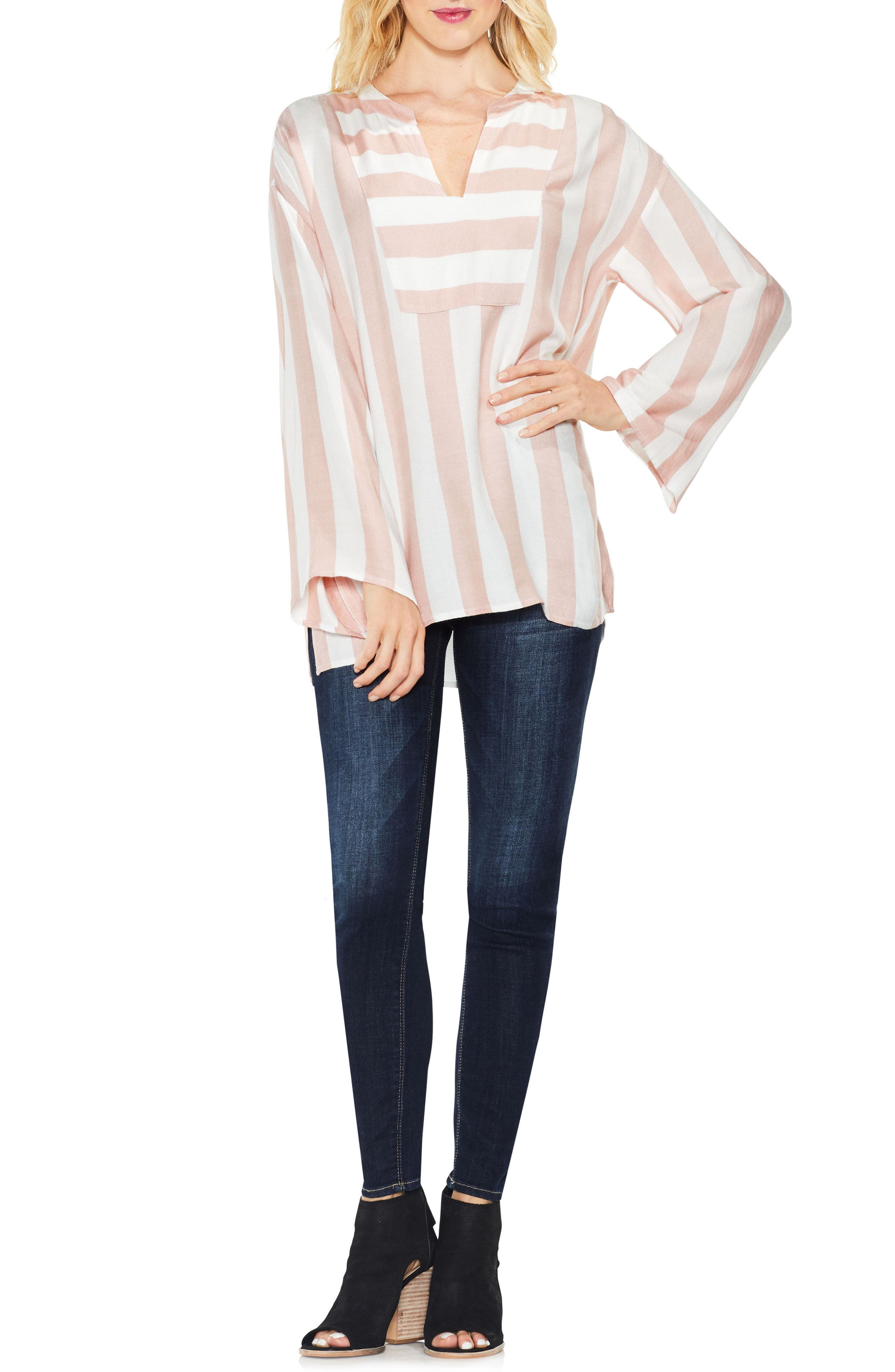 Alternate Image 3  - Two by Vince Camuto Bell Sleeve Top