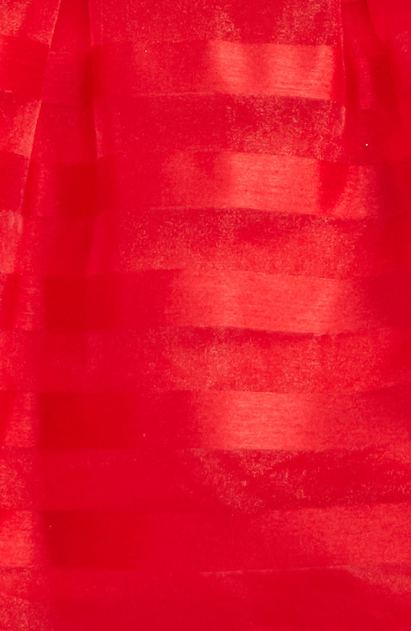 Short Sleeve Stripe Dress,                             Alternate thumbnail 2, color,                             Red