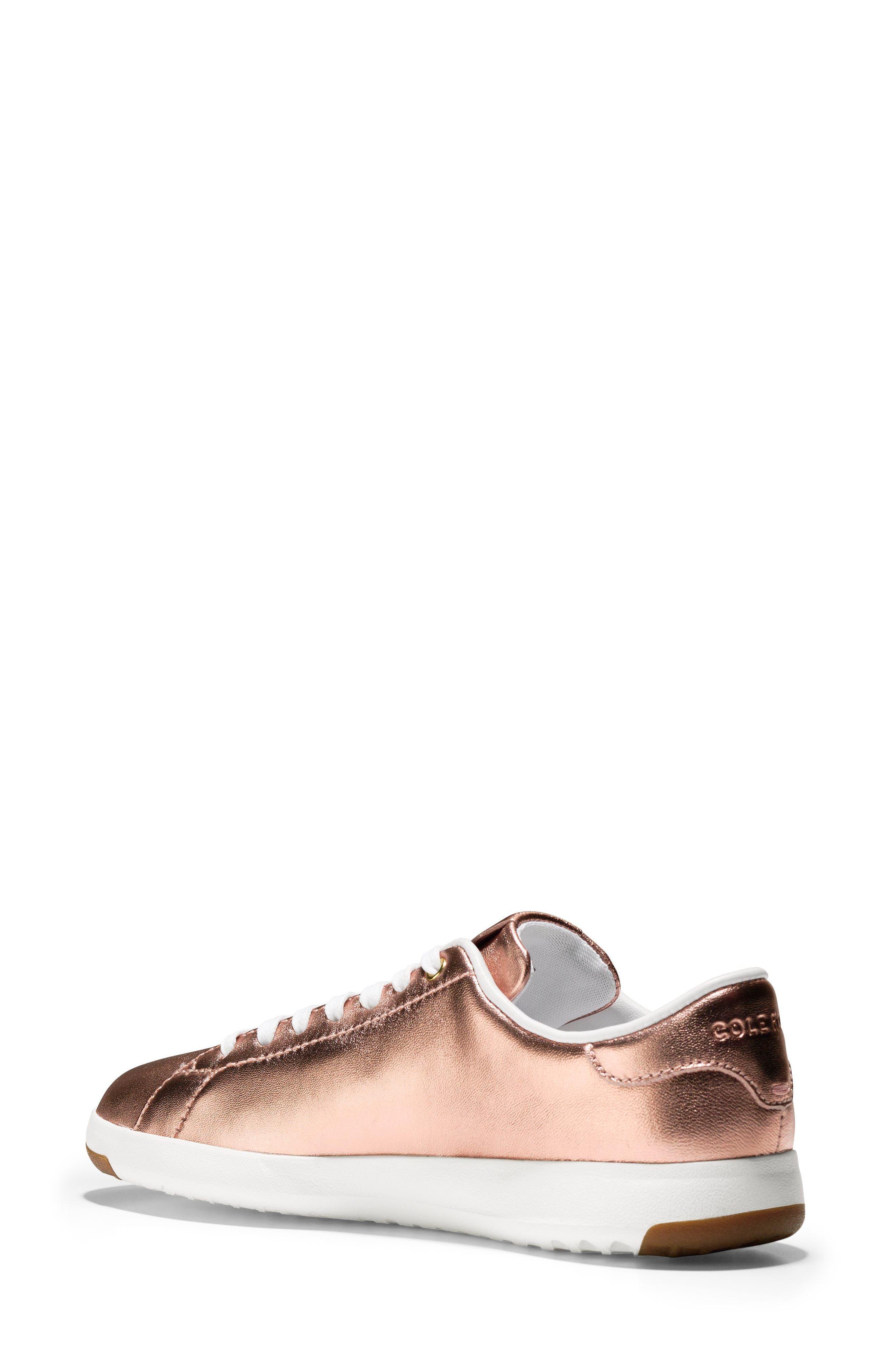 GrandPro Tennis Shoe,                             Alternate thumbnail 2, color,                             Rose Gold Leather