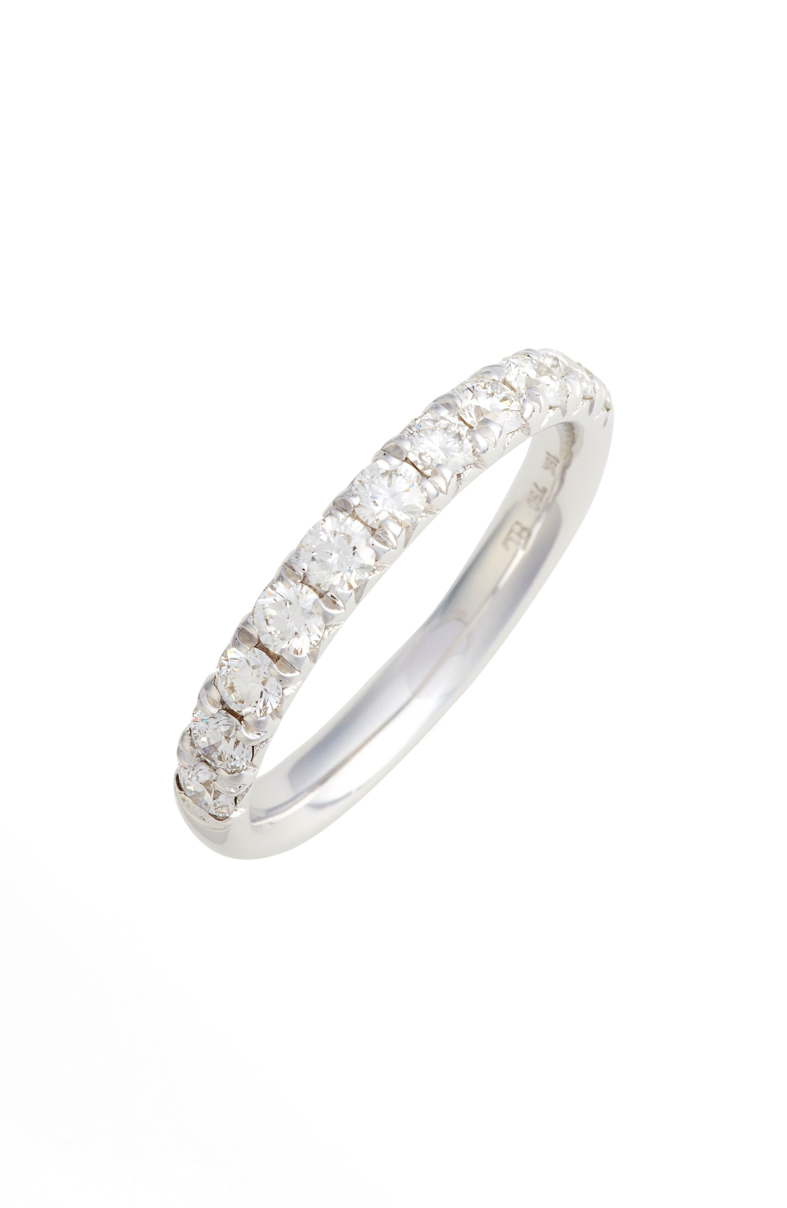Main Image - Bony Levy Kiera French Cut Diamond Band (Nordstrom Exclusive)
