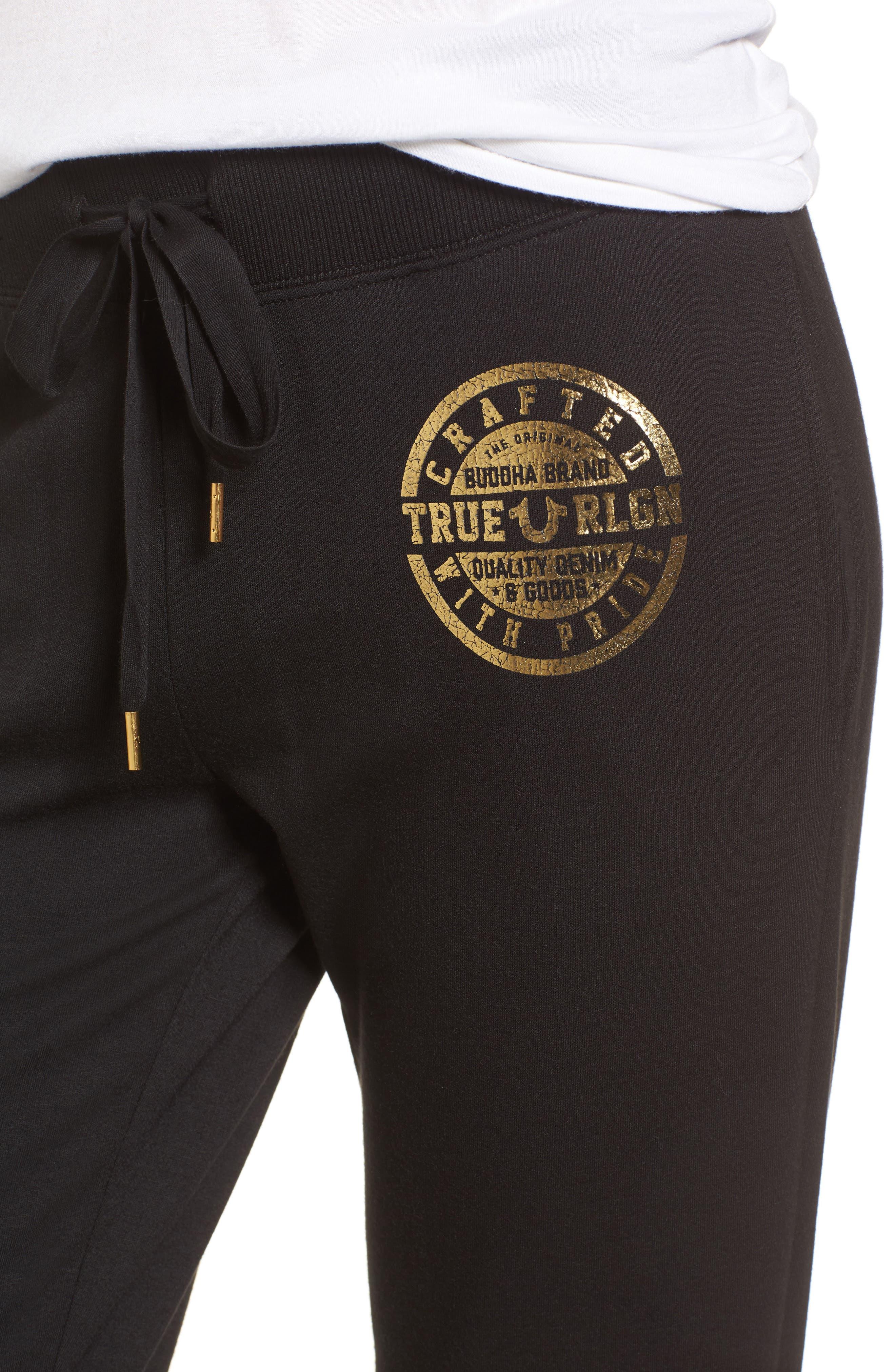Zip Sweatpants,                             Alternate thumbnail 5, color,                             Black