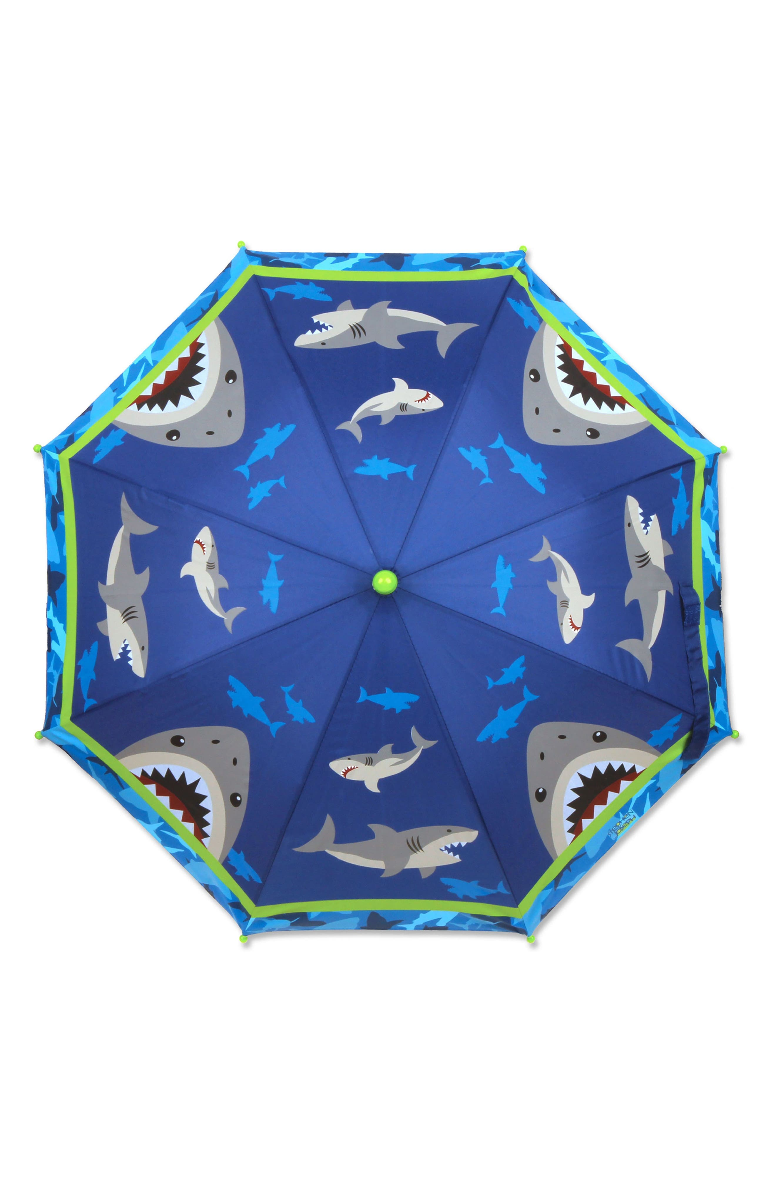 Shark Raincoat & Umbrella Set,                             Alternate thumbnail 5, color,                             Shark