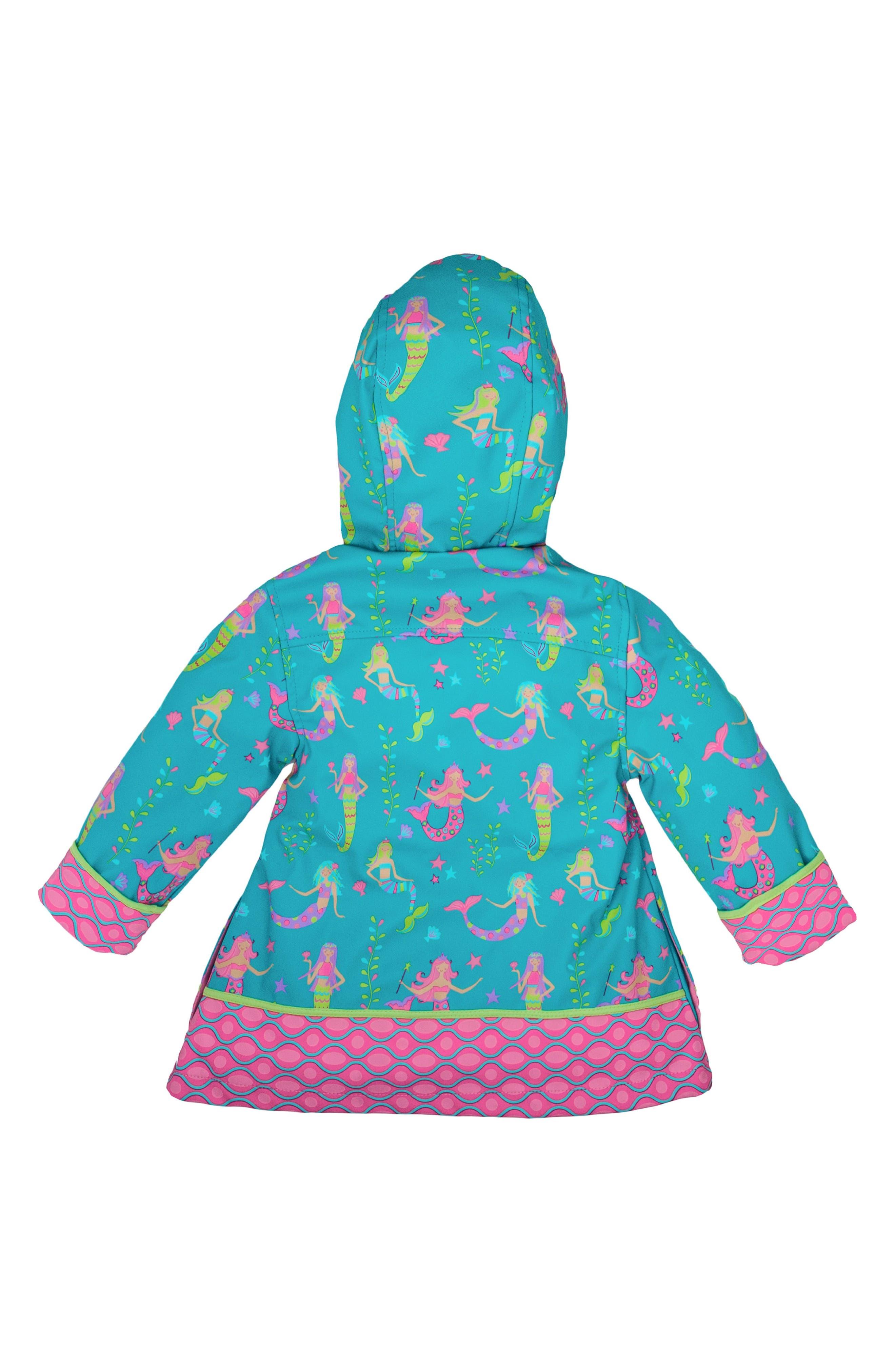 Alternate Image 3  - Stephen Joseph Mermaid Raincoat & Umbrella Set (Toddler Girls, Little Girls & Big Girls)
