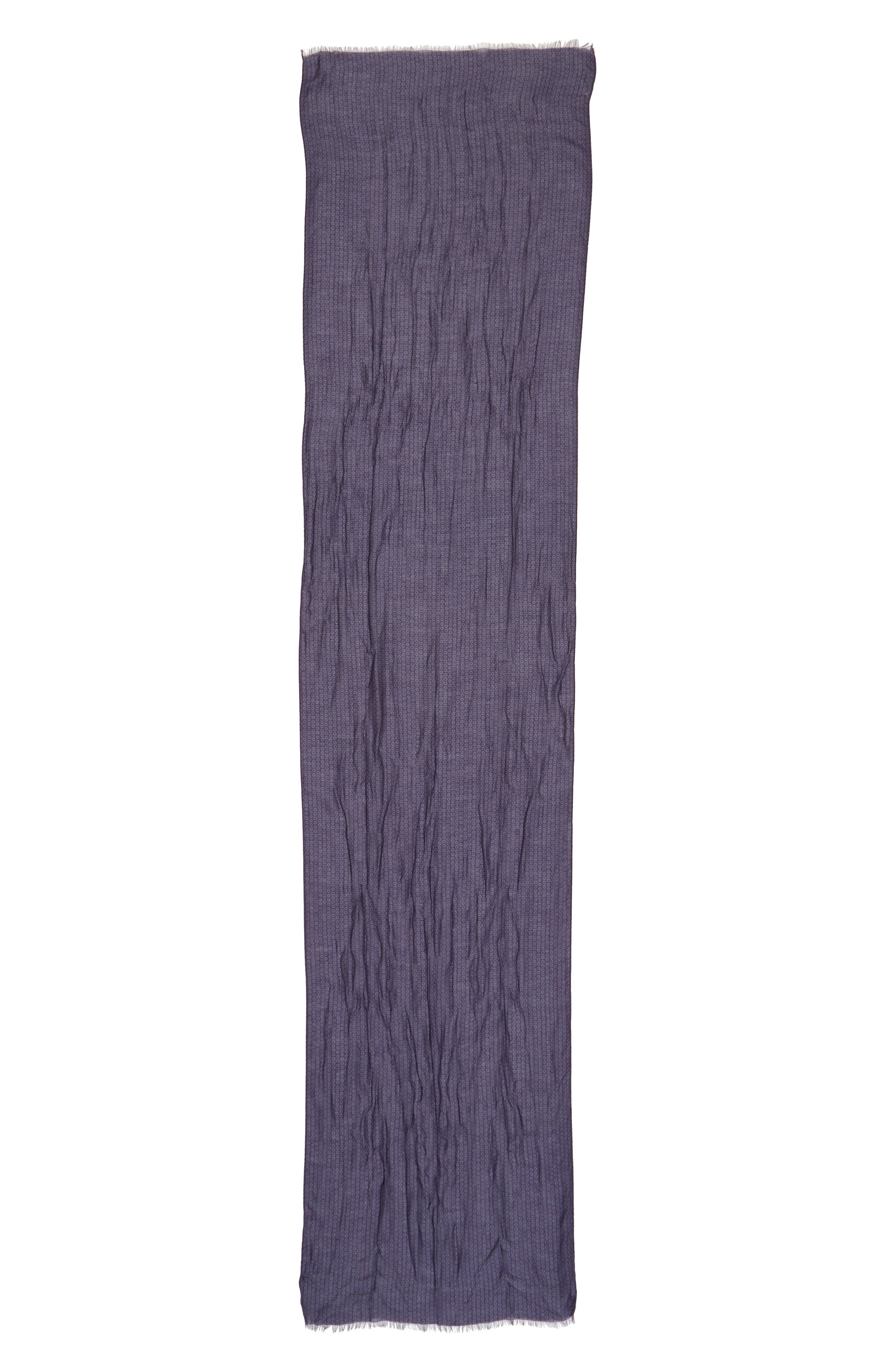 Crinkled Dot Modal & Wool Scarf,                             Alternate thumbnail 2, color,                             Antique Purple