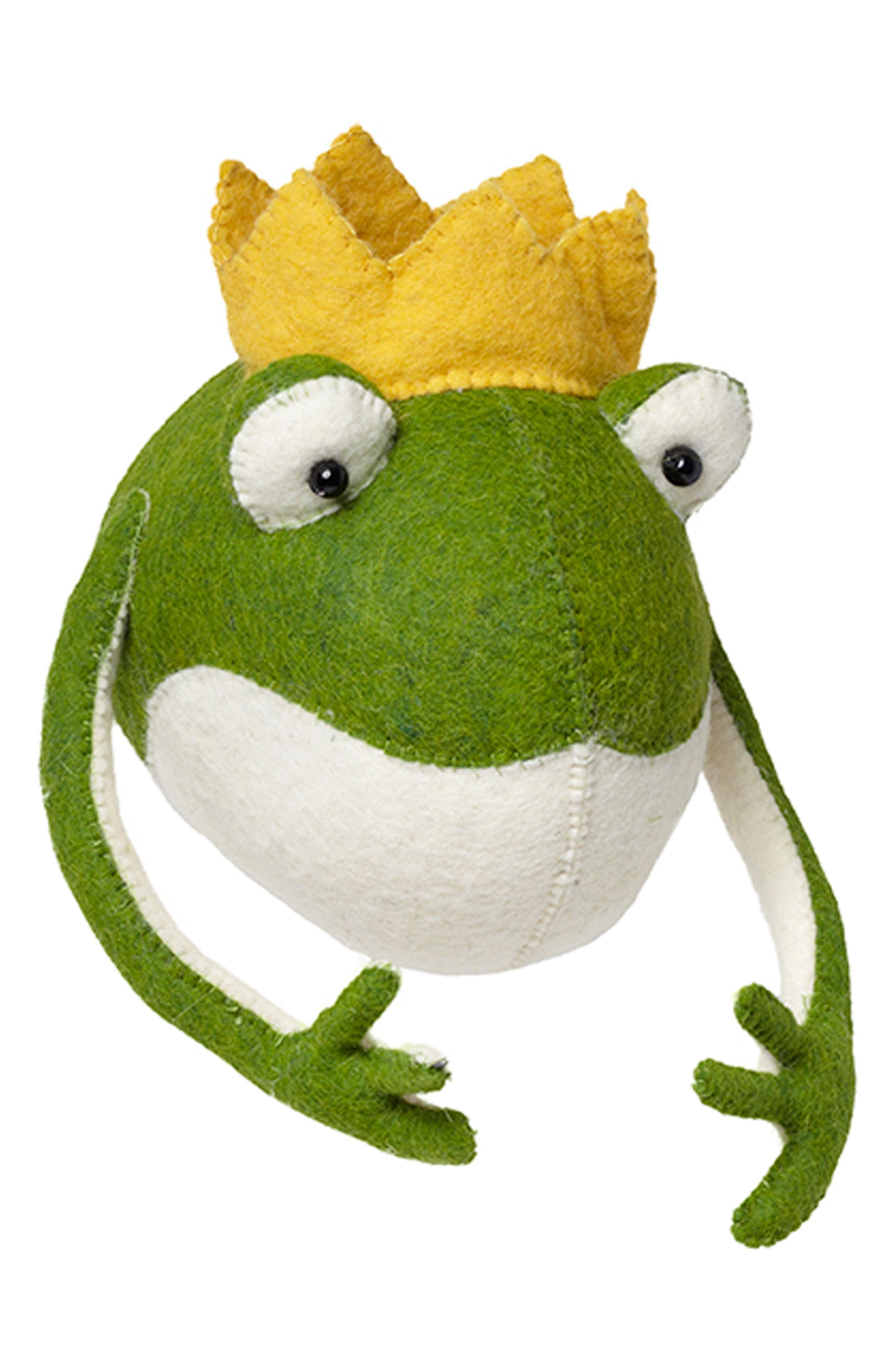 Frog Prince Head Wall Art,                             Alternate thumbnail 2, color,                             Green