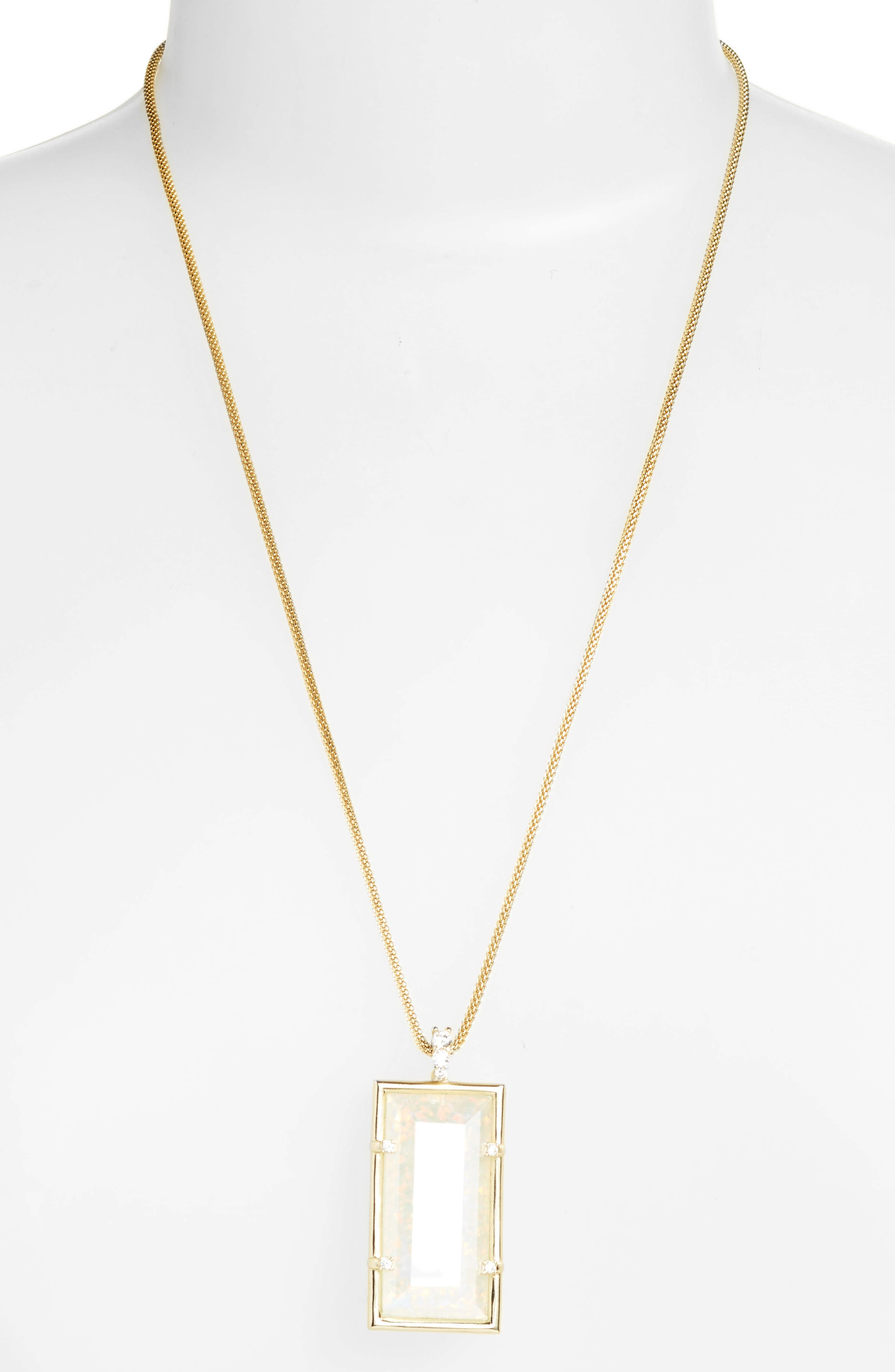 Kendra Scott Edith White Opal Pendant Necklace