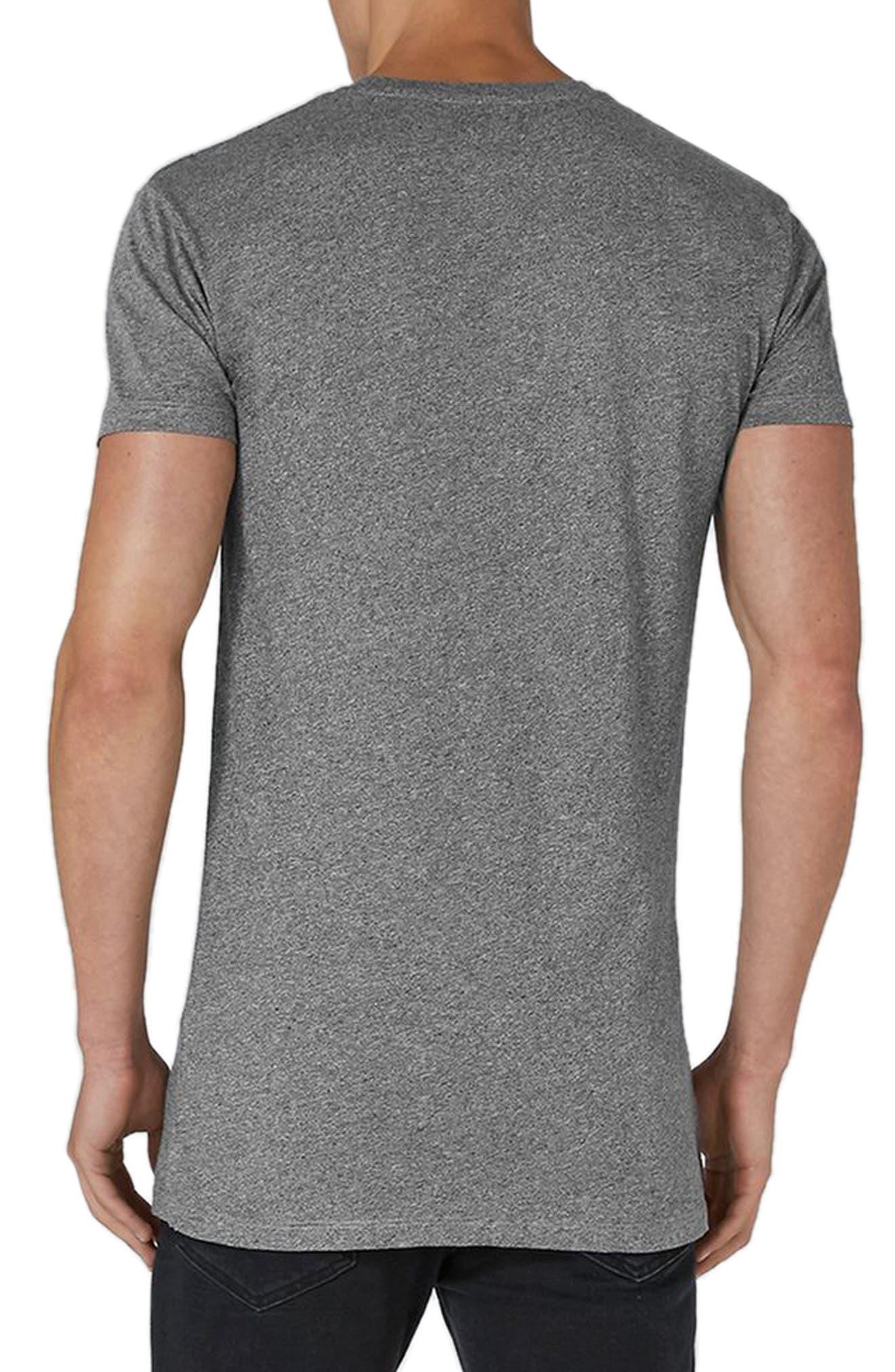 Muscle Fit Longline T-Shirt,                             Alternate thumbnail 2, color,                             Grey