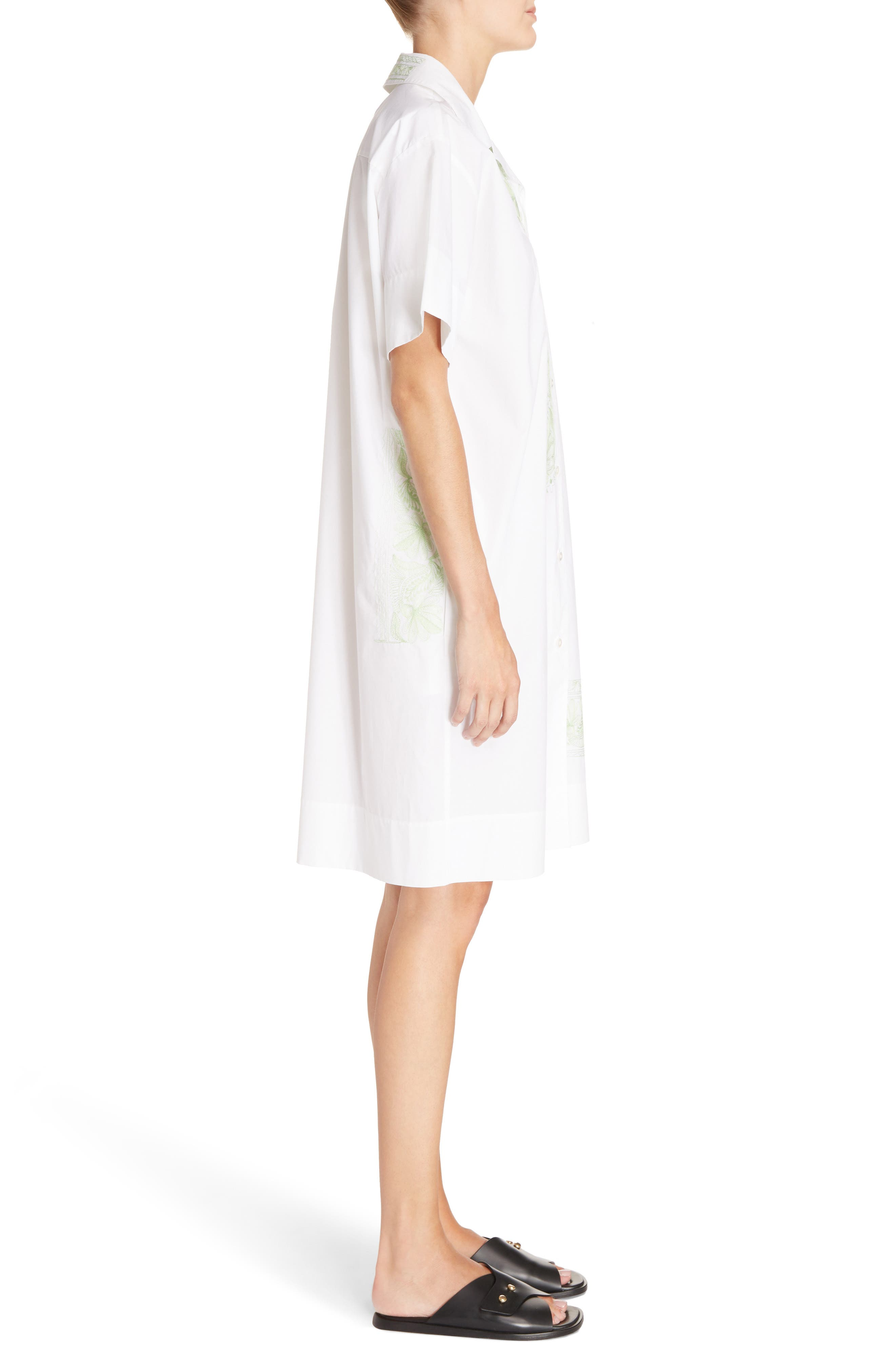 Jusso Embroidered Shirtdress,                             Alternate thumbnail 3, color,                             White