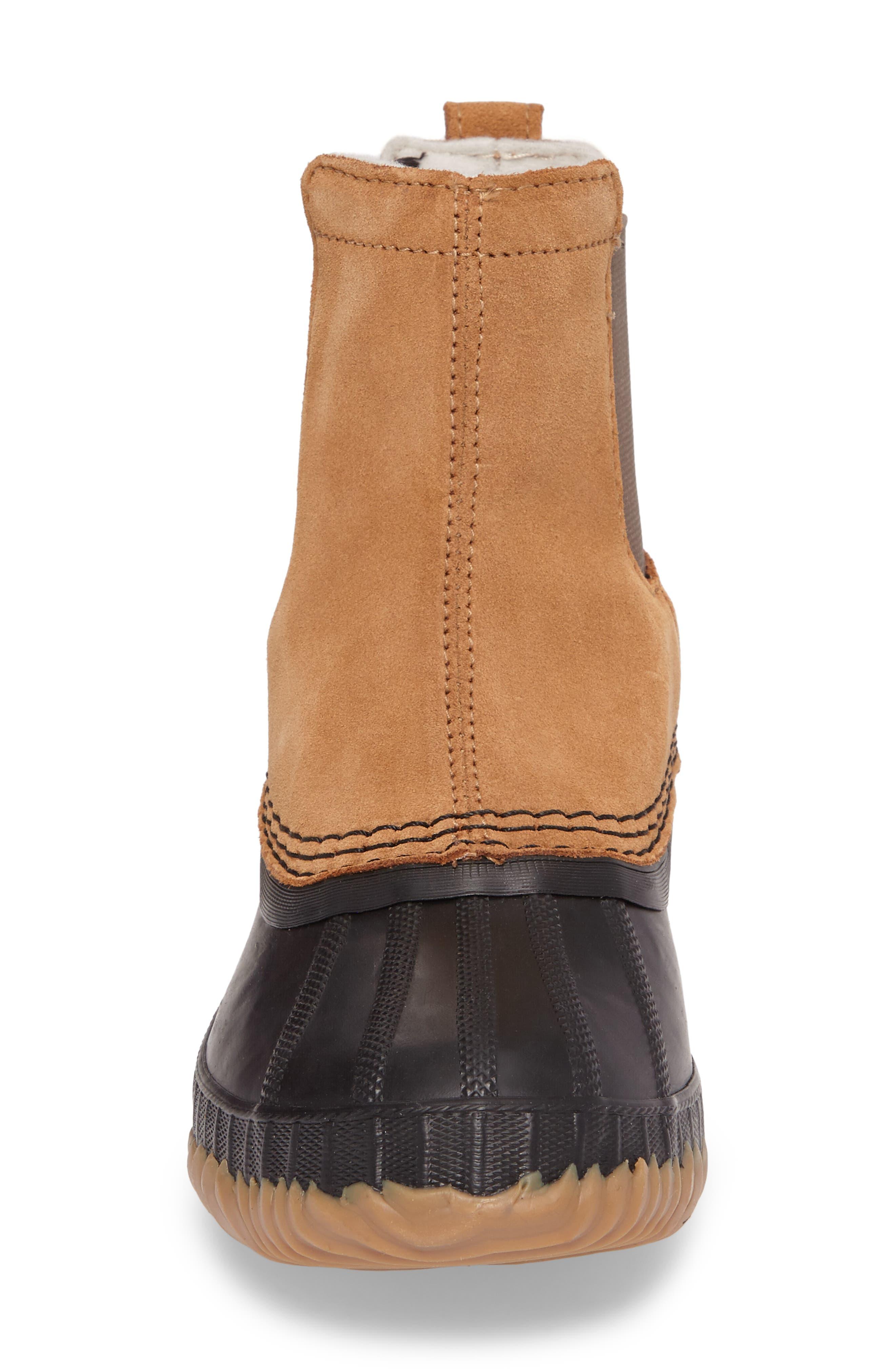 Cheyanne II Waterproof Insulated Chelsea Boot,                             Alternate thumbnail 4, color,                             Elk/ Black