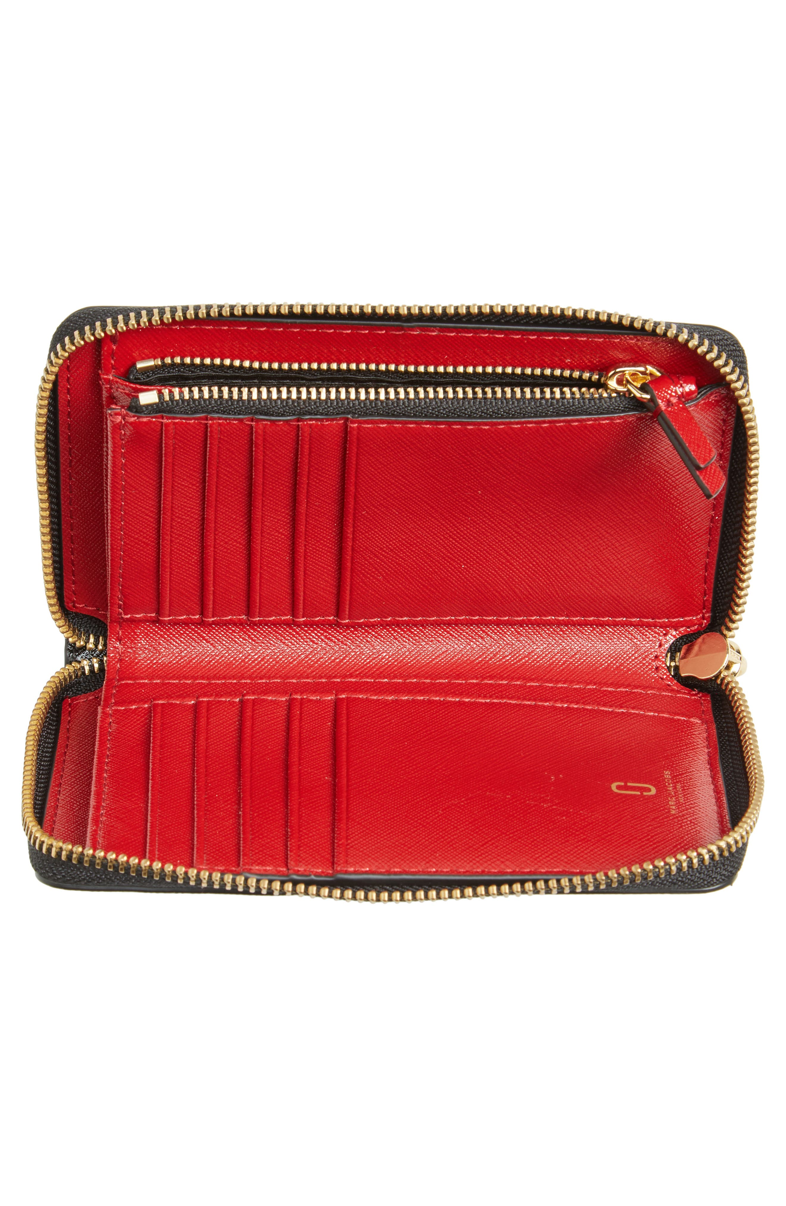 Alternate Image 3  - MARC JACOBS Small Snapshot Leather Zip-Around Wallet