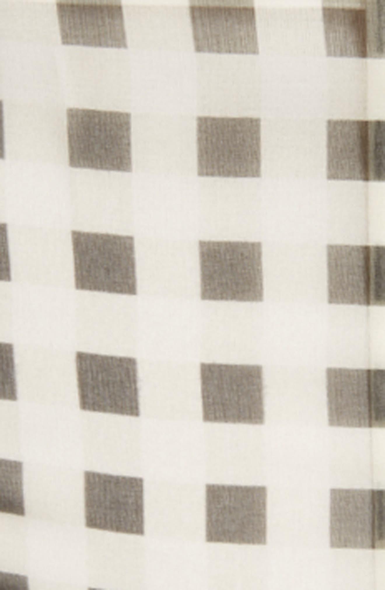 Alternate Image 5  - Christopher Kane Check Print Off the Shoulder Silk Mini Dress