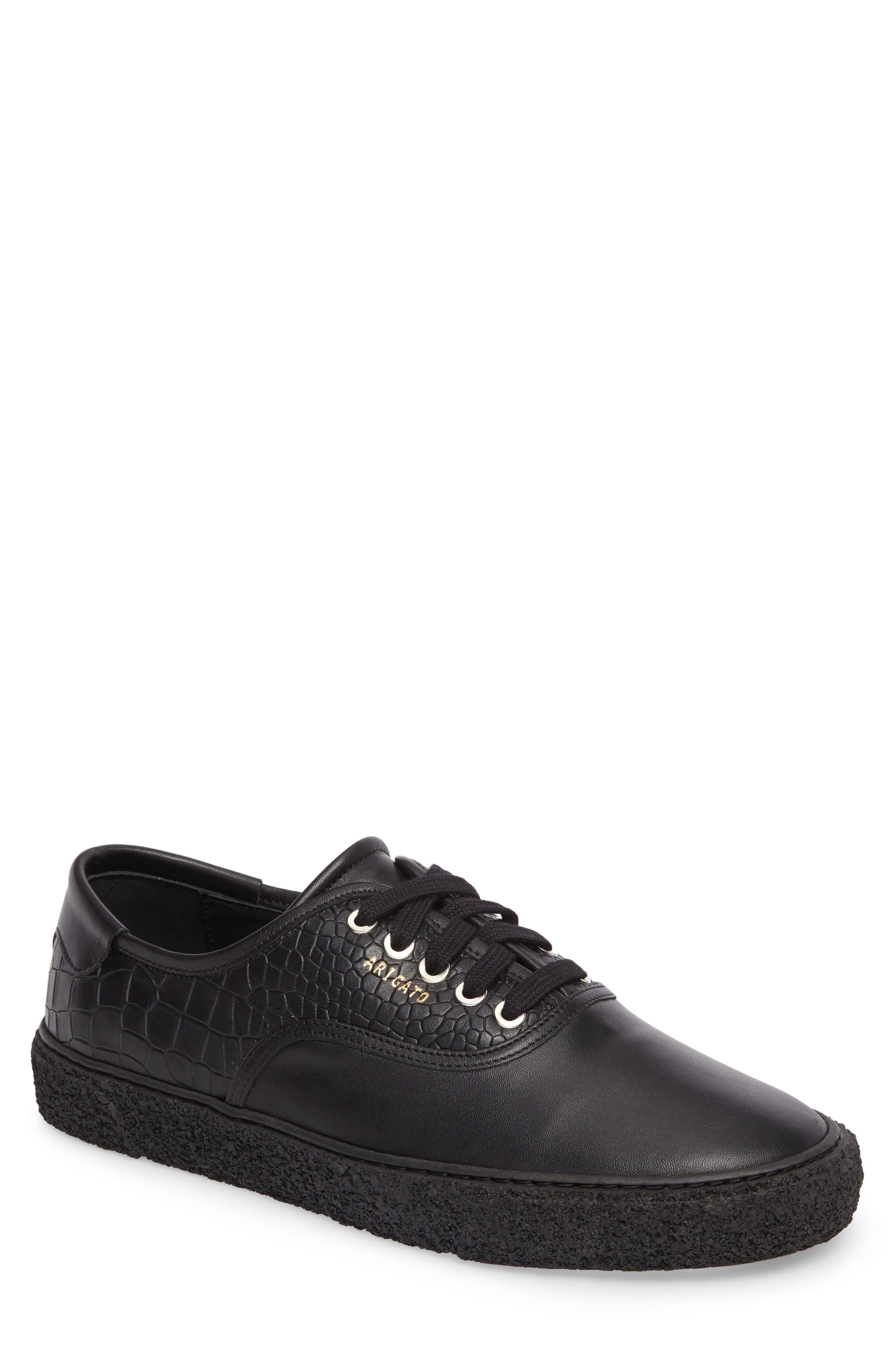 Skate Embossed Sneaker,                             Main thumbnail 1, color,                             Black Leather