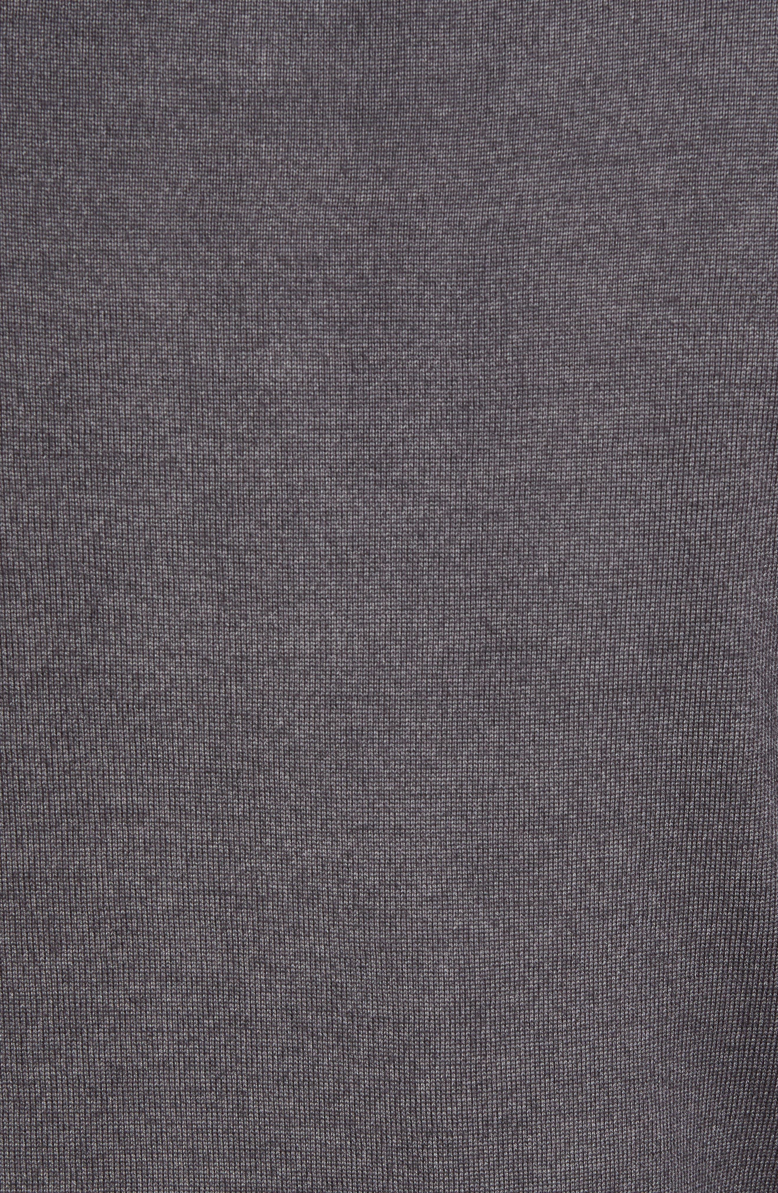 Alternate Image 5  - David Donahue Ice Merino Wool Quarter Zip Pullover