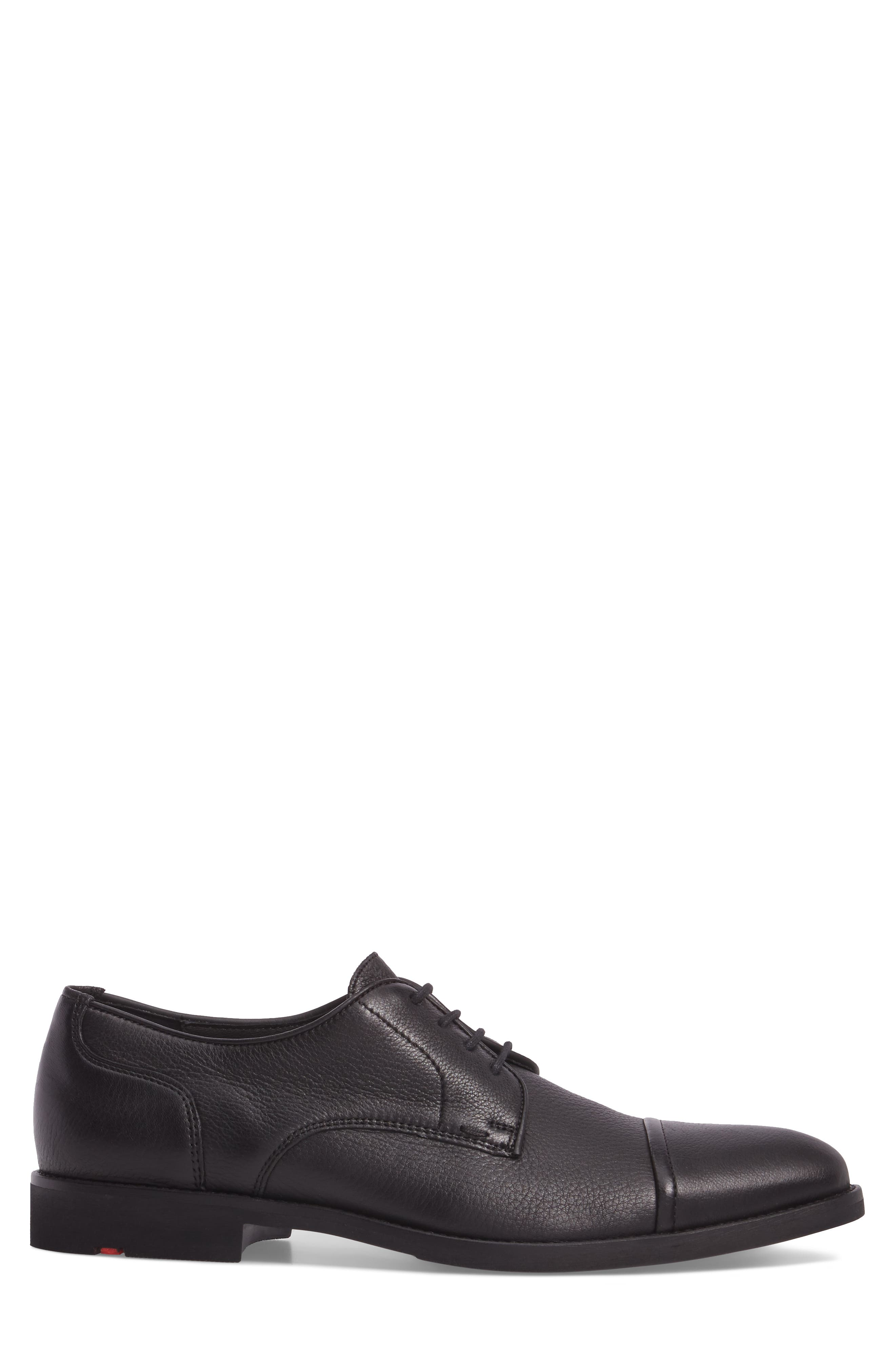Richmond Cap Toe Derby,                             Alternate thumbnail 3, color,                             Black Leather
