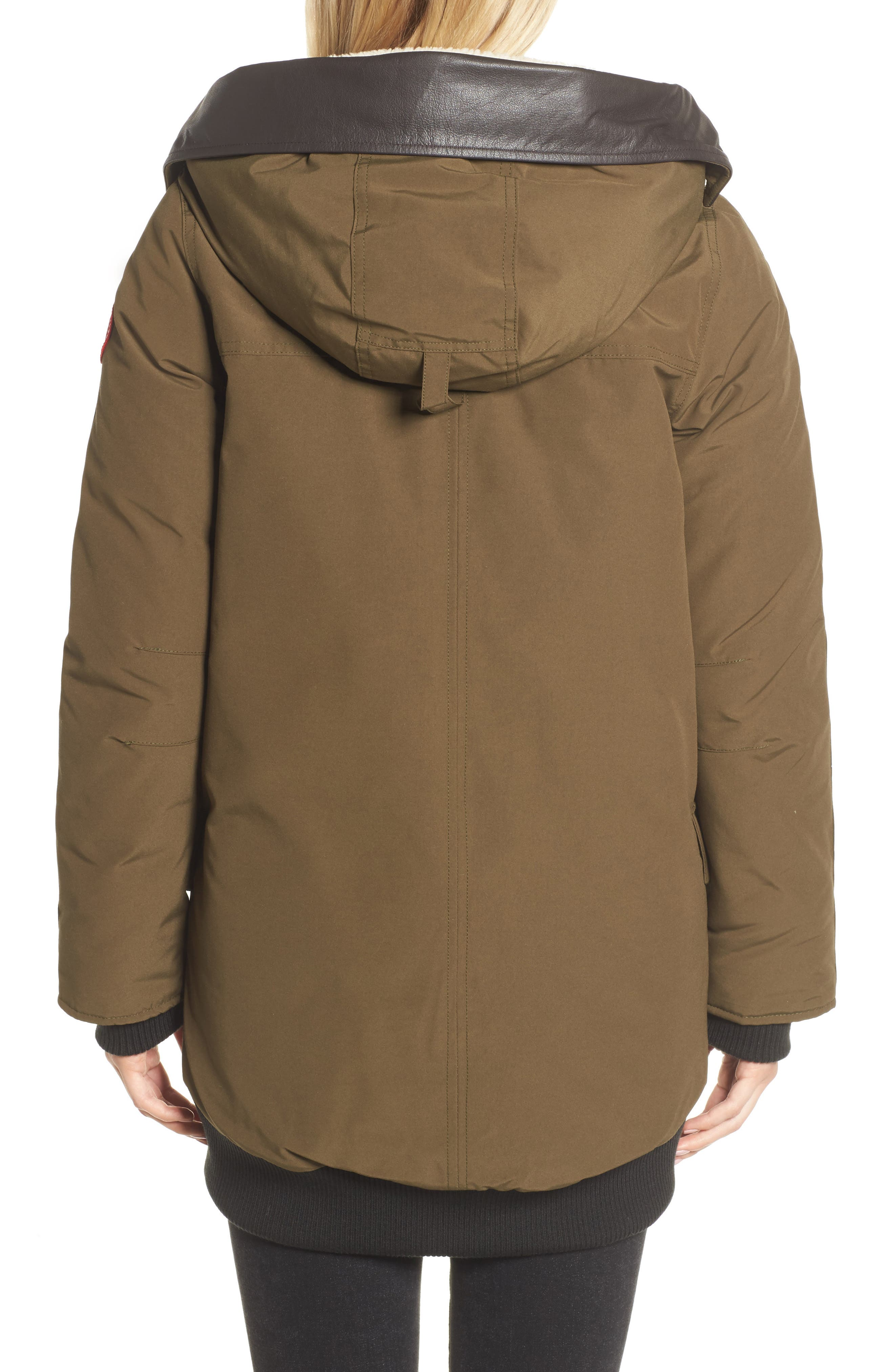 Alternate Image 2  - Canada Goose Finnegan 625-Fill Power Down Parka with Genuine Shearling Hood Lining