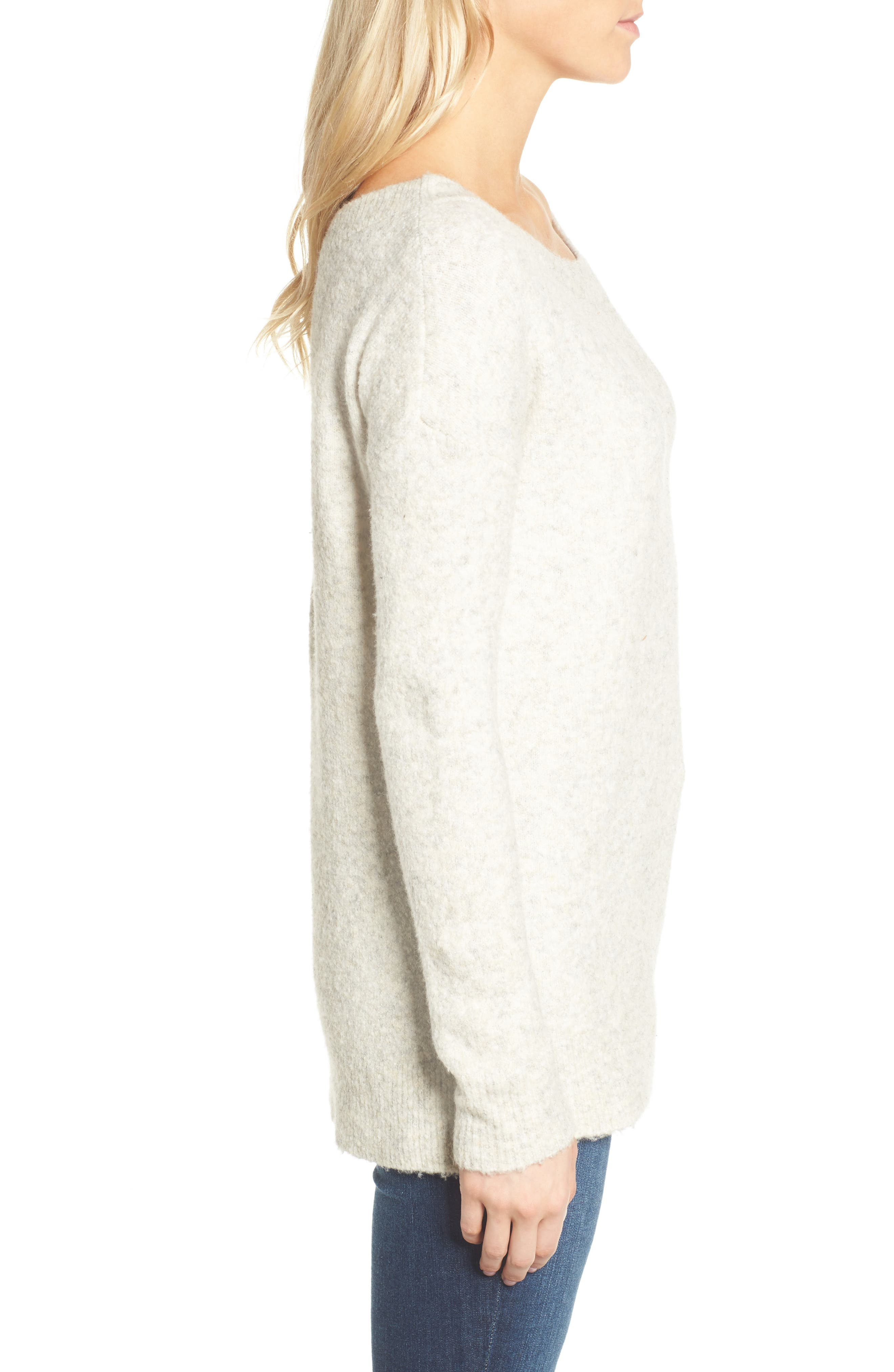 Alternate Image 3  - French Connection Urban Flossy One-Shoulder Sweater