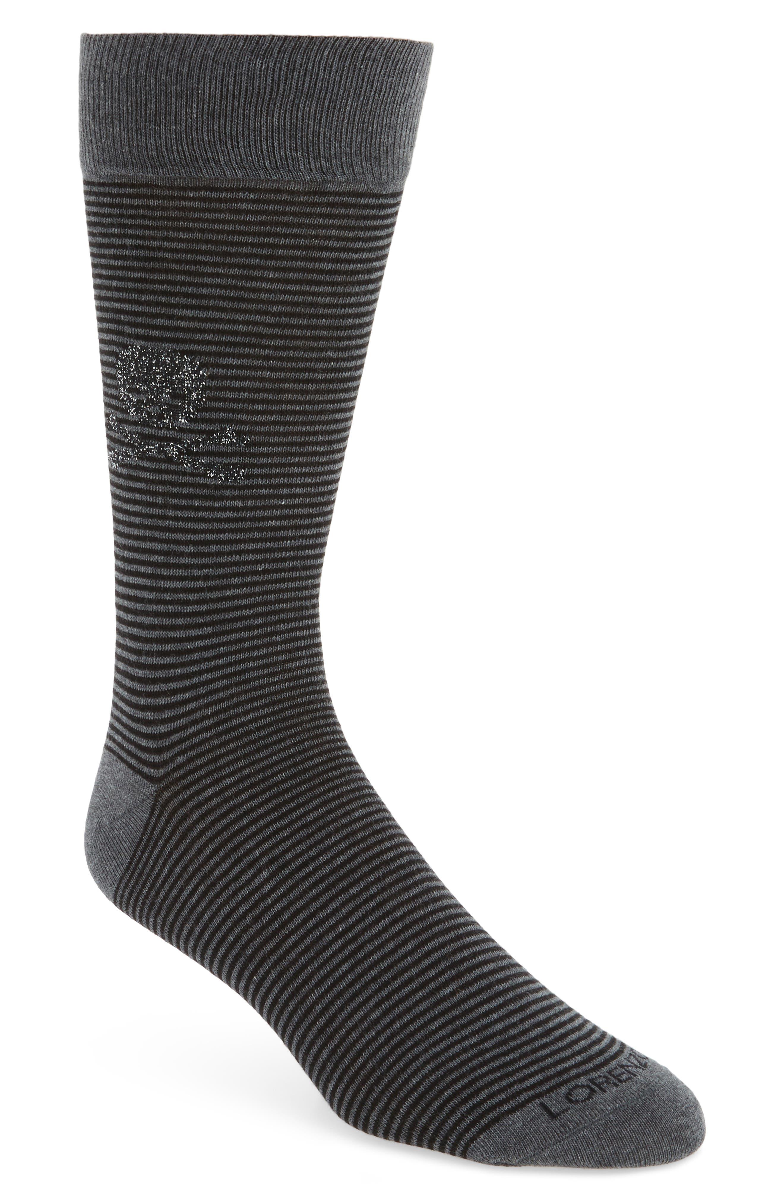 Lorenzo Uomo Millerighe Skull Socks