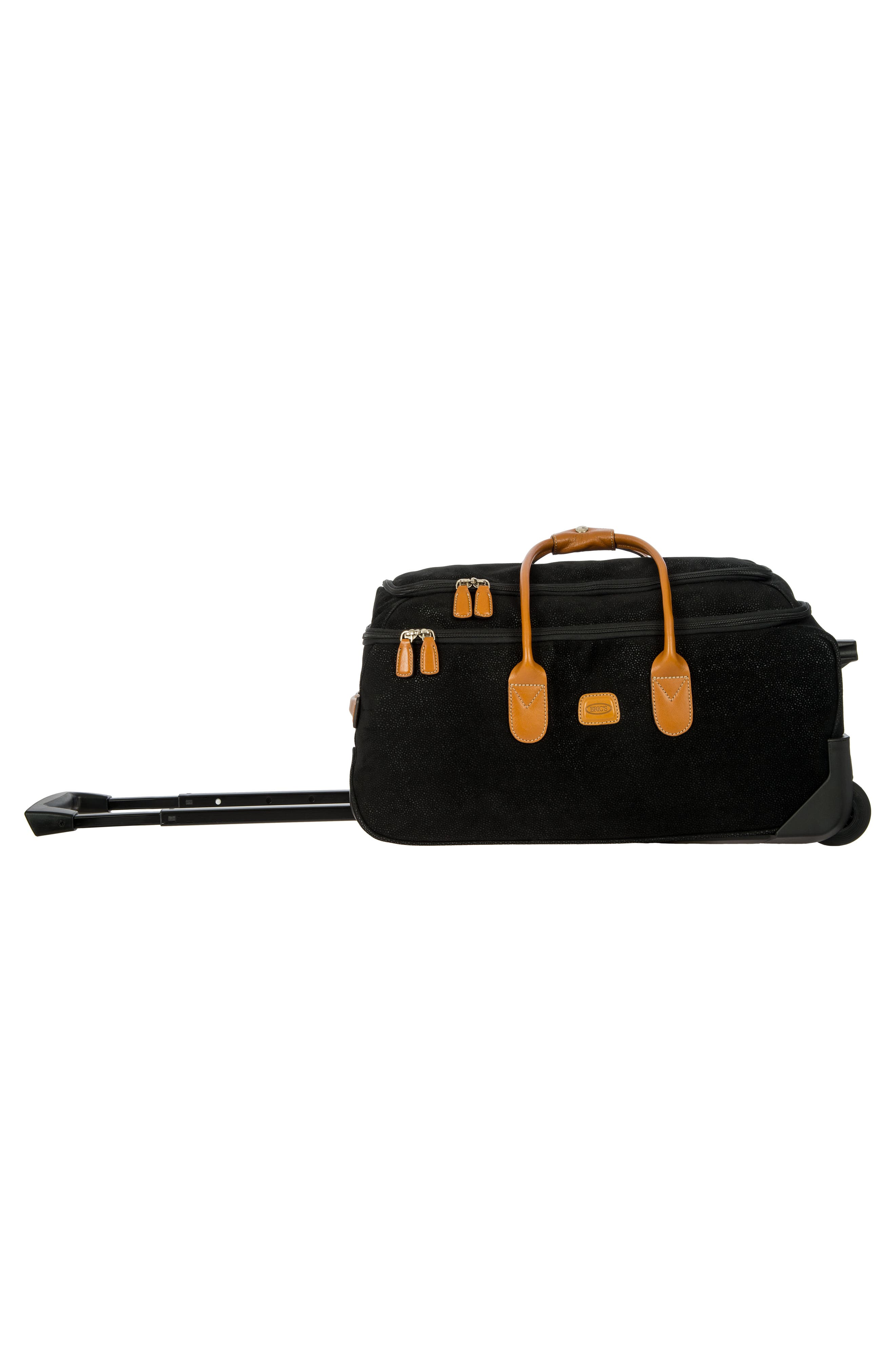 Life Collection 21-Inch Rolling Duffel Bag,                             Alternate thumbnail 7, color,                             Black