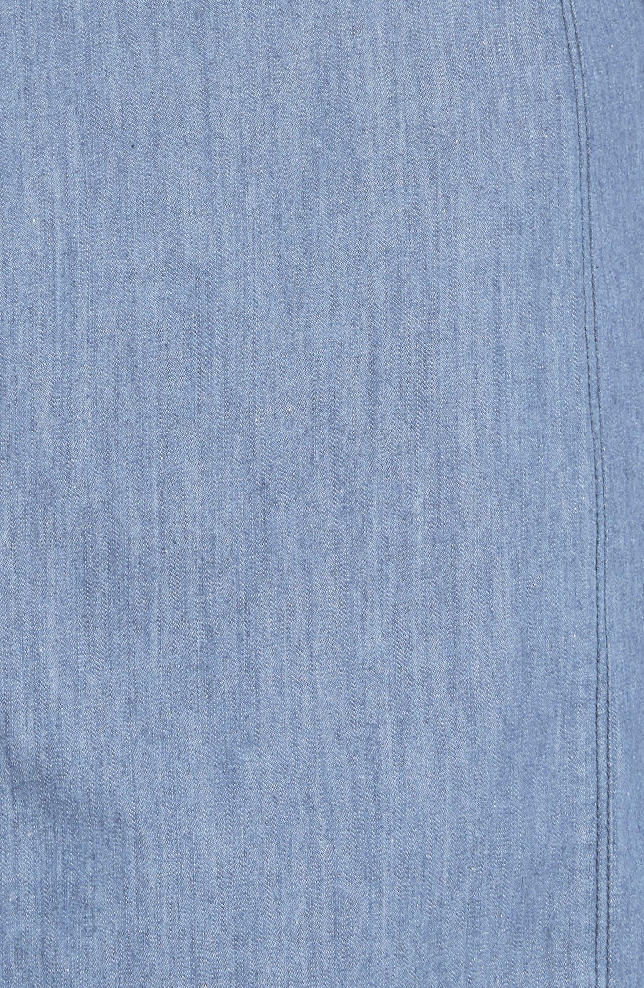 Sadie Destroyed Denim Shirtdress,                             Alternate thumbnail 5, color,                             Indigo