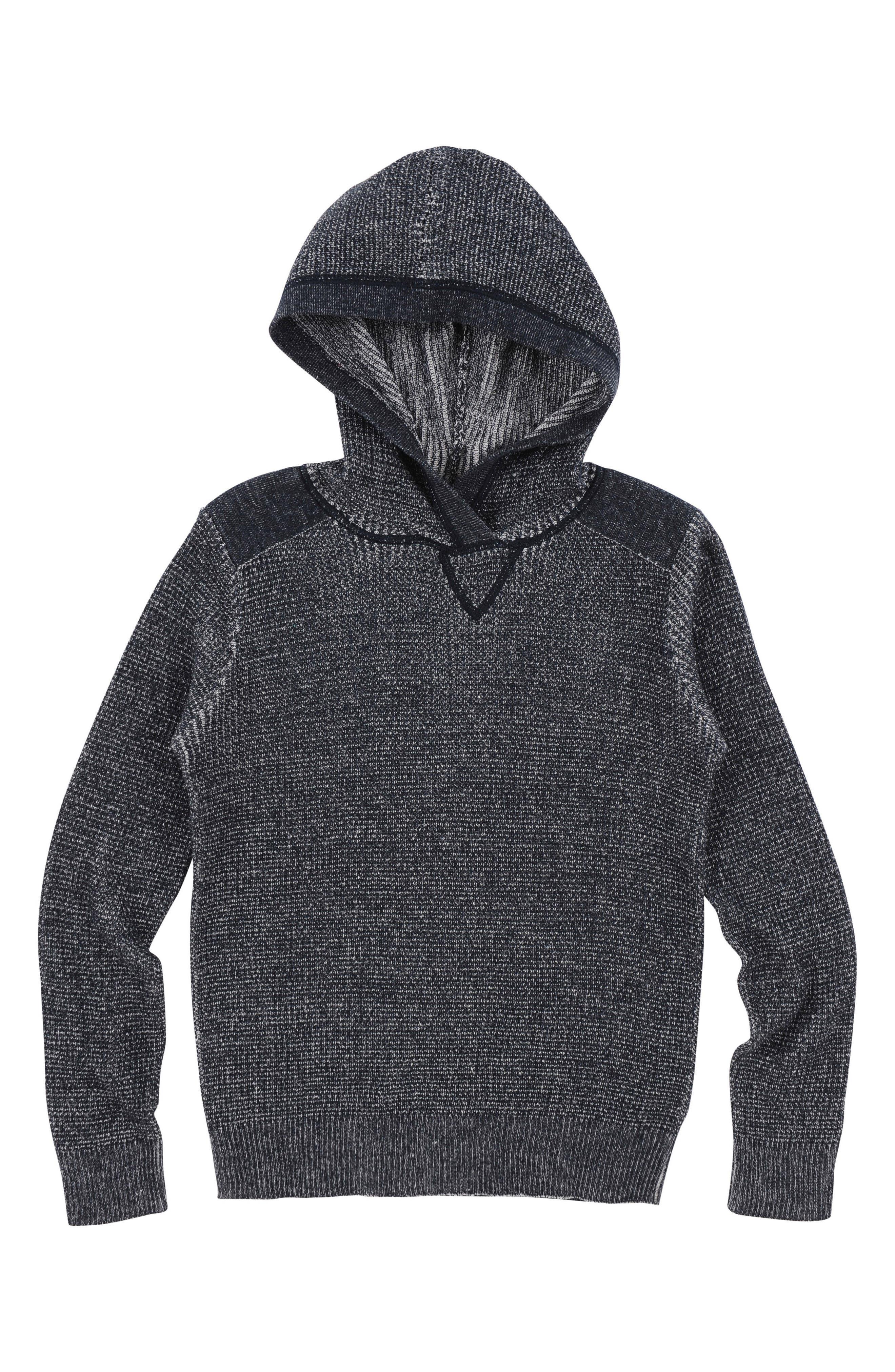 Cotton Hoodie,                         Main,                         color, Dark Indigo