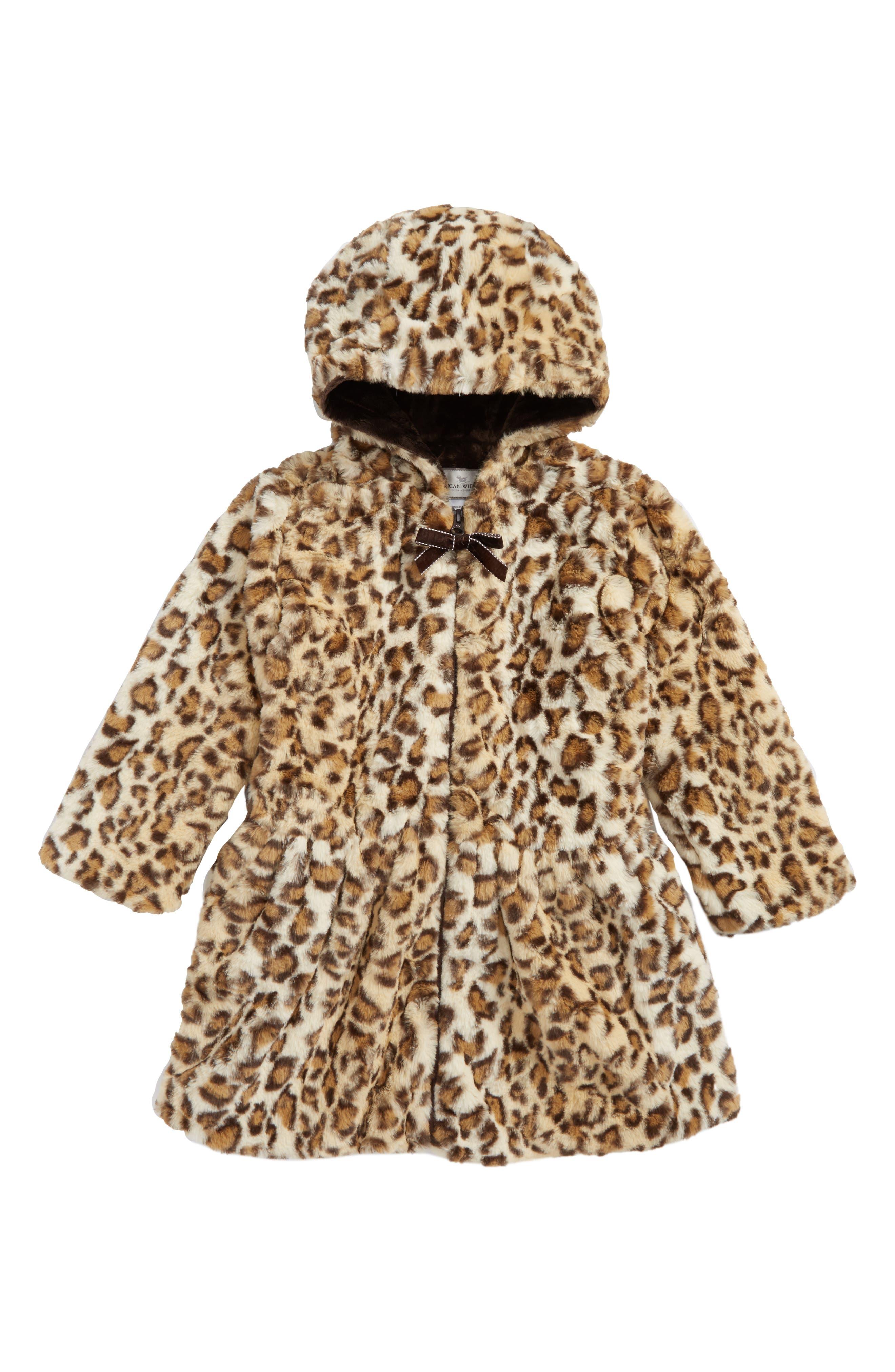 Drop Waist FauxFur Coat,                         Main,                         color, Beige