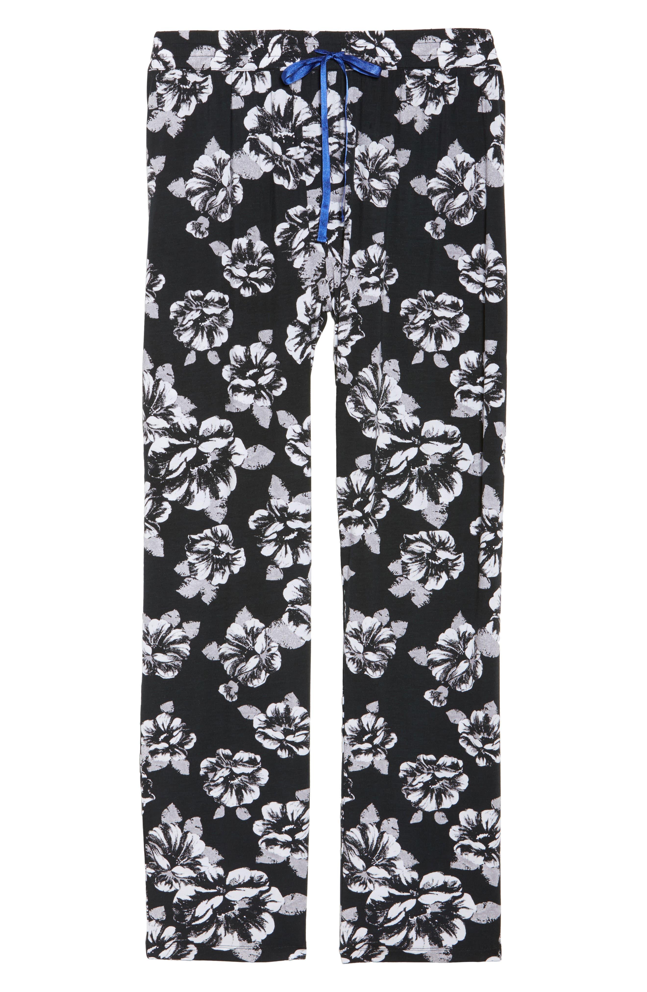 Pajama Pants,                             Alternate thumbnail 7, color,                             Black
