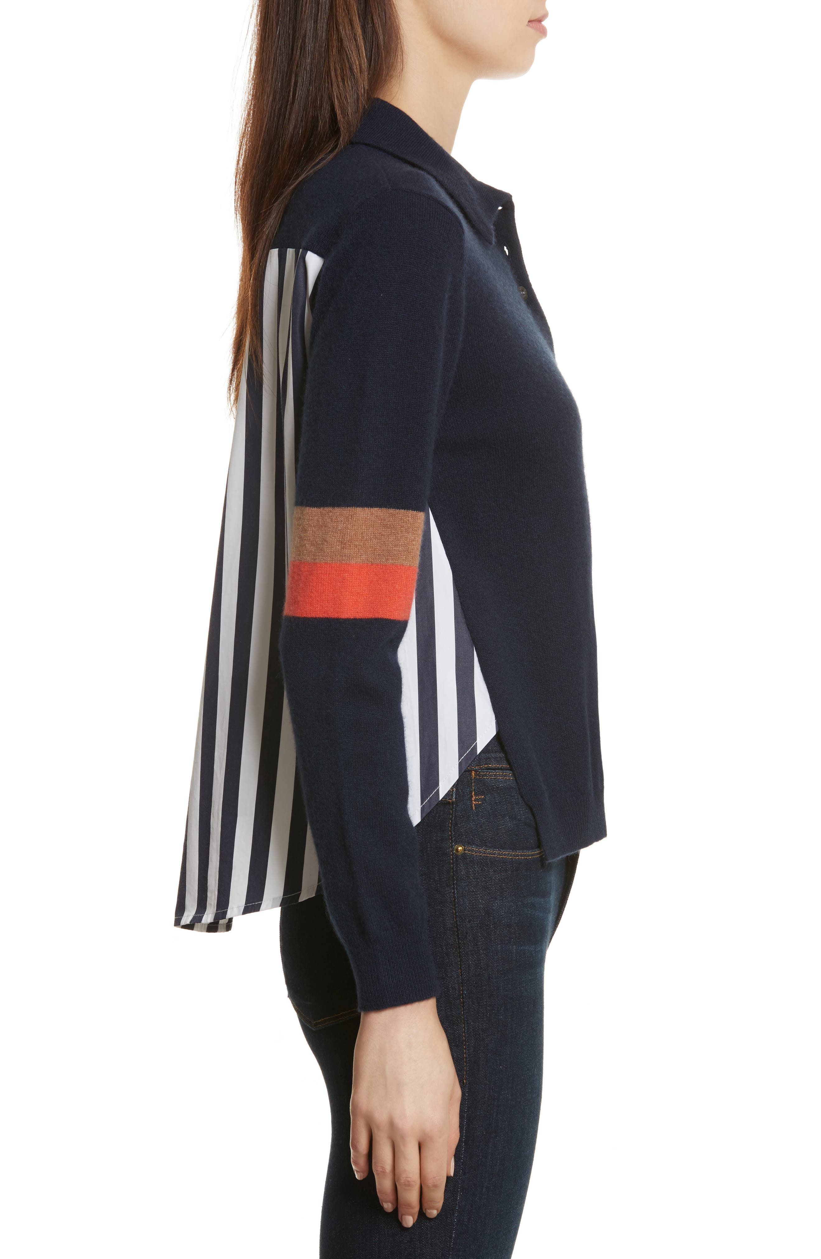 The Purdy Combo Top,                             Alternate thumbnail 3, color,                             Navy