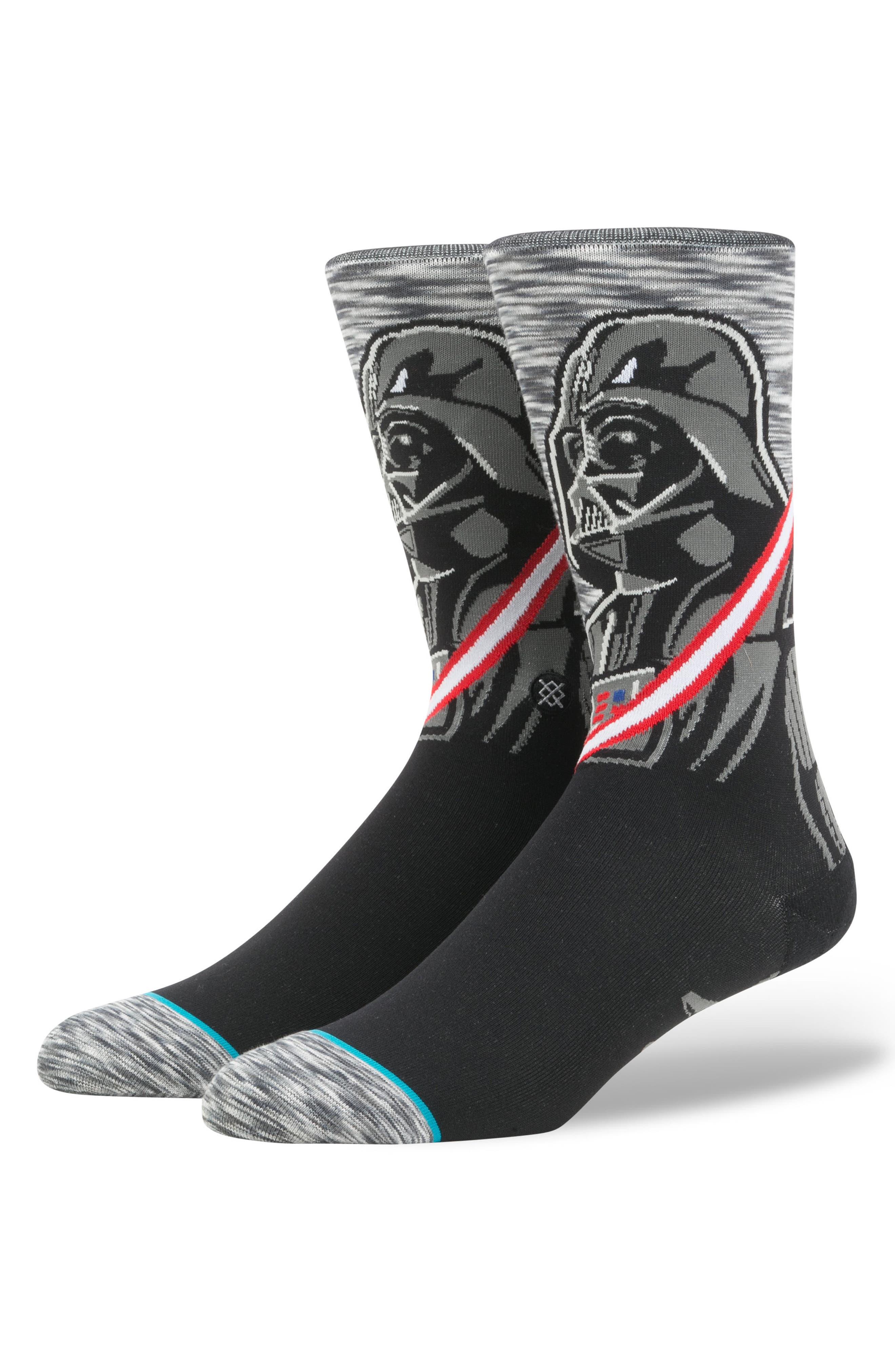 Star Wars<sup>™</sup> - Darkside Socks,                             Main thumbnail 1, color,                             Grey