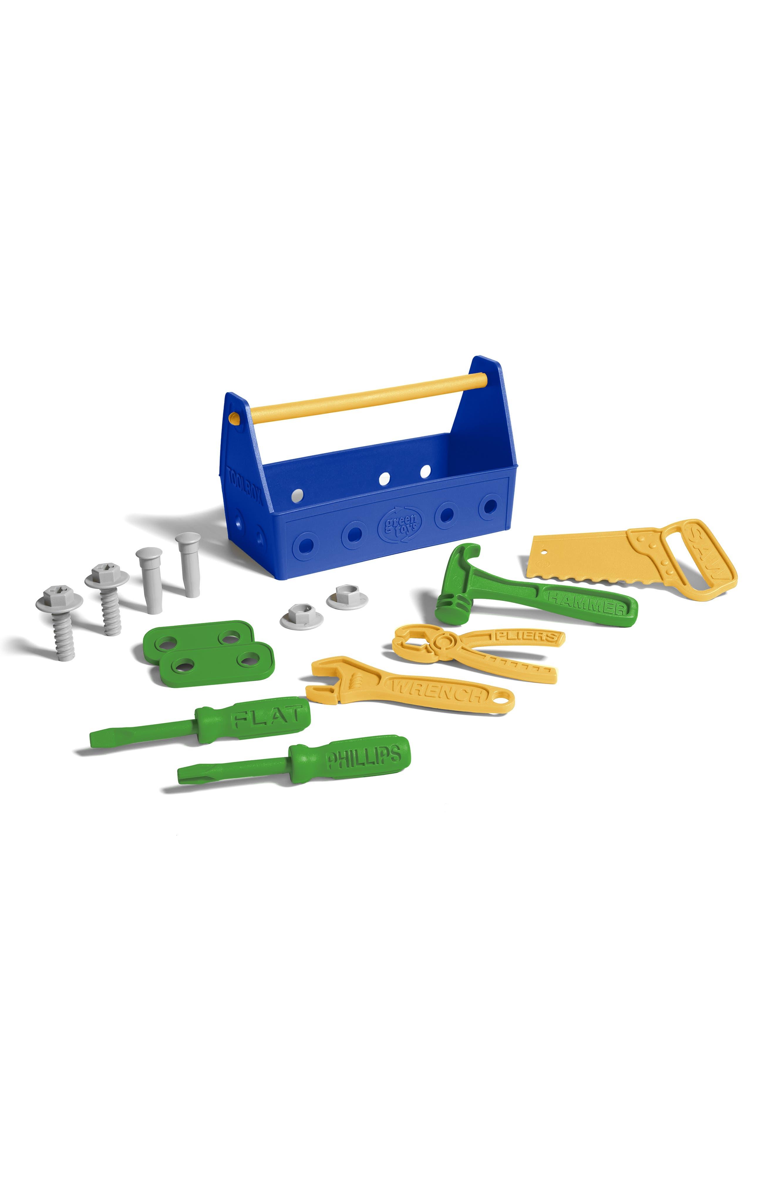 15-Piece Plastic Tool Set,                             Main thumbnail 1, color,                             Blue