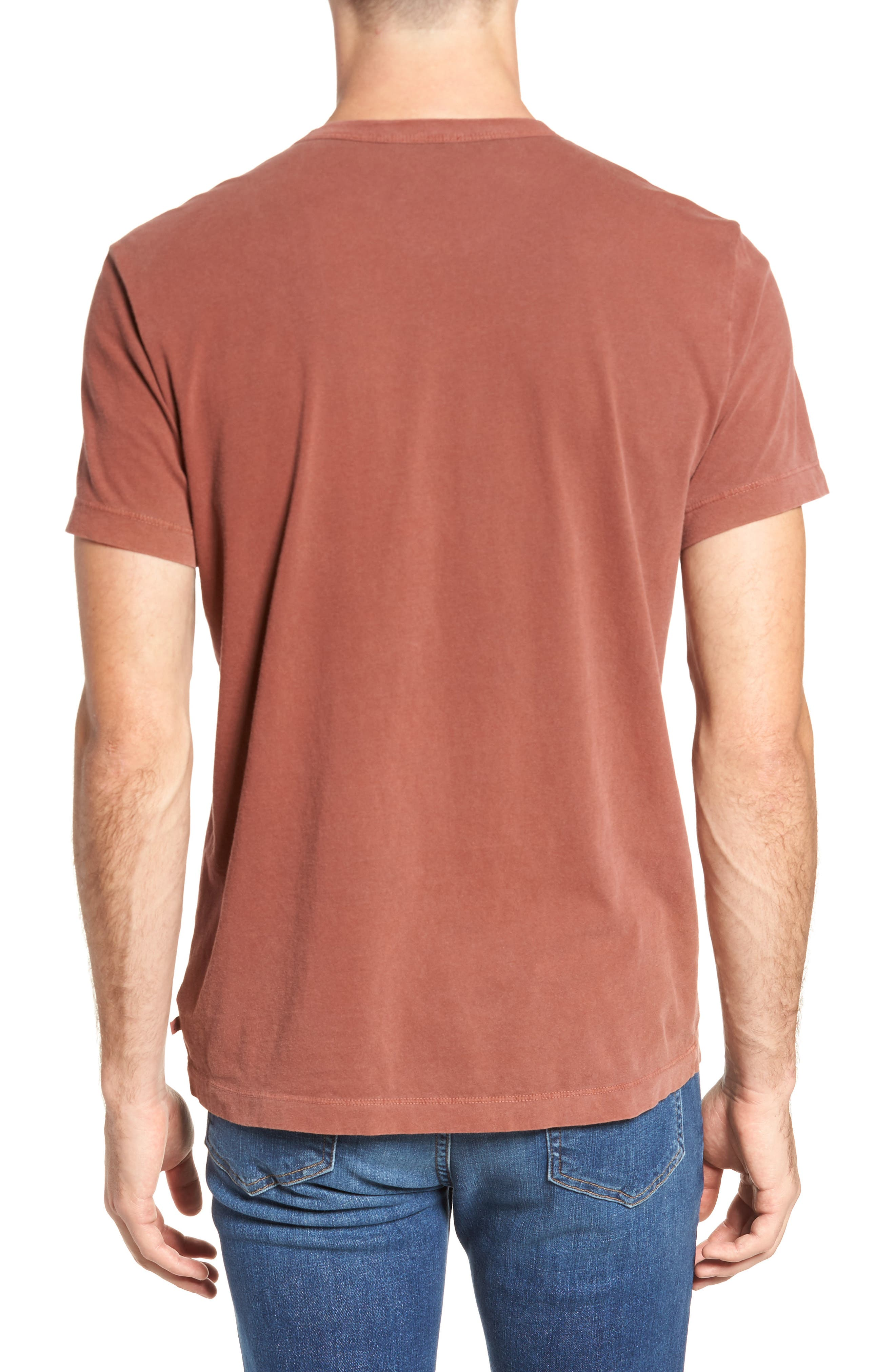 Crewneck Jersey T-Shirt,                             Alternate thumbnail 2, color,                             Red Clay