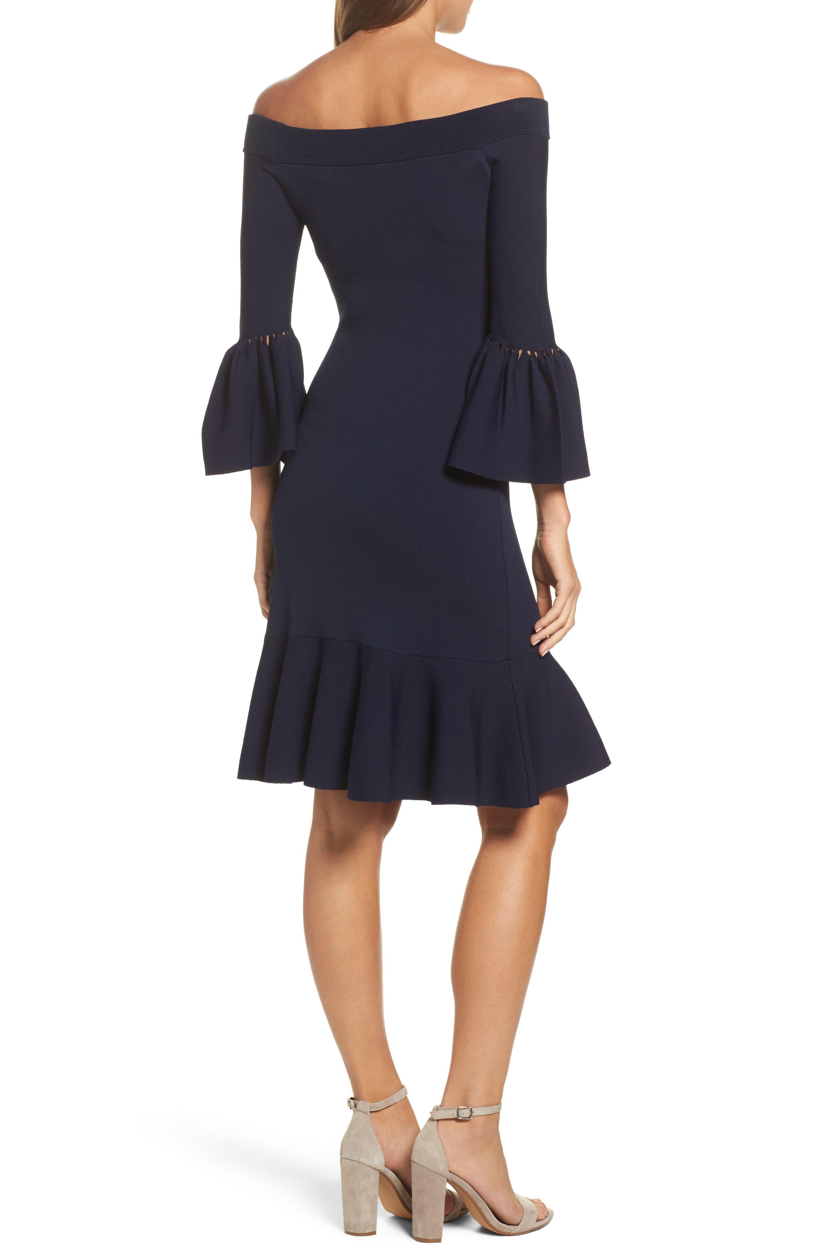 Alternate Image 2  - Eliza J Off the Shoulder Flare Hem Dress
