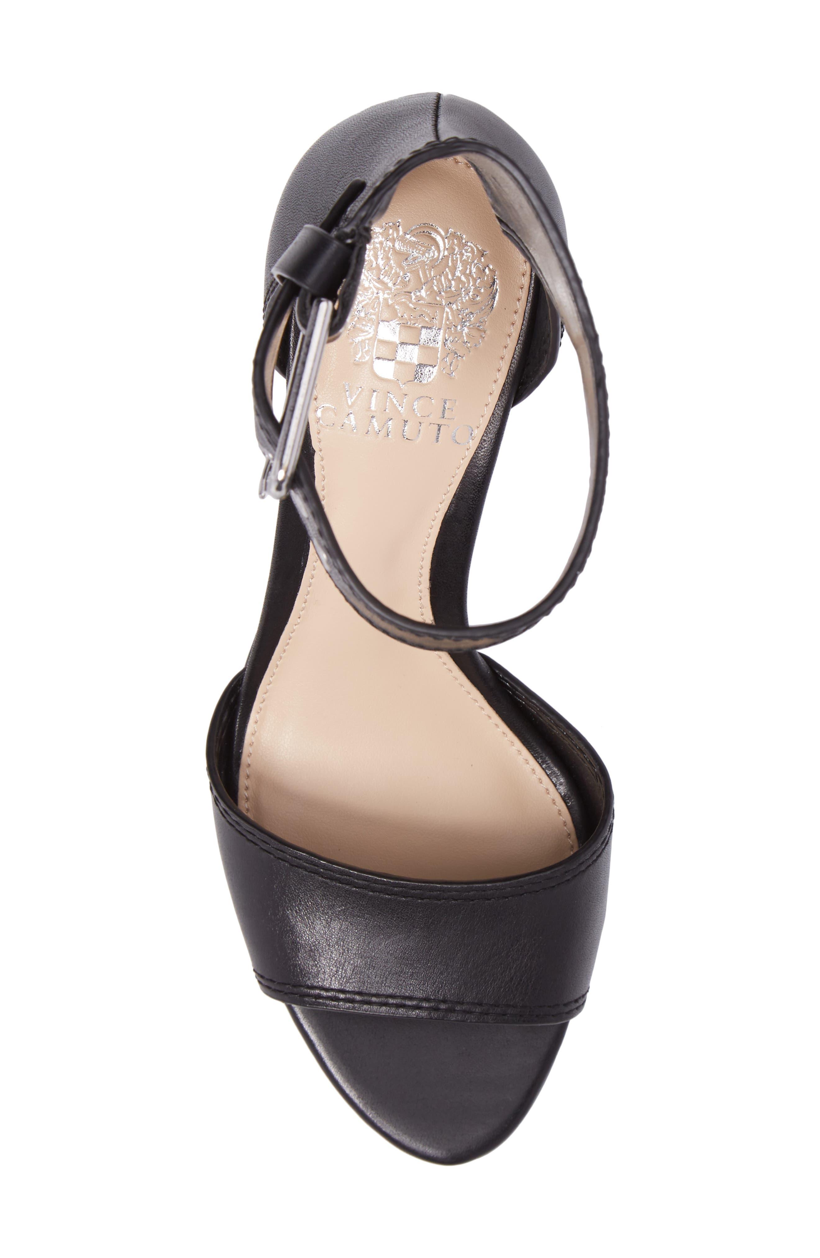 Driton Ankle Strap Sandal,                             Alternate thumbnail 5, color,                             Black Leather