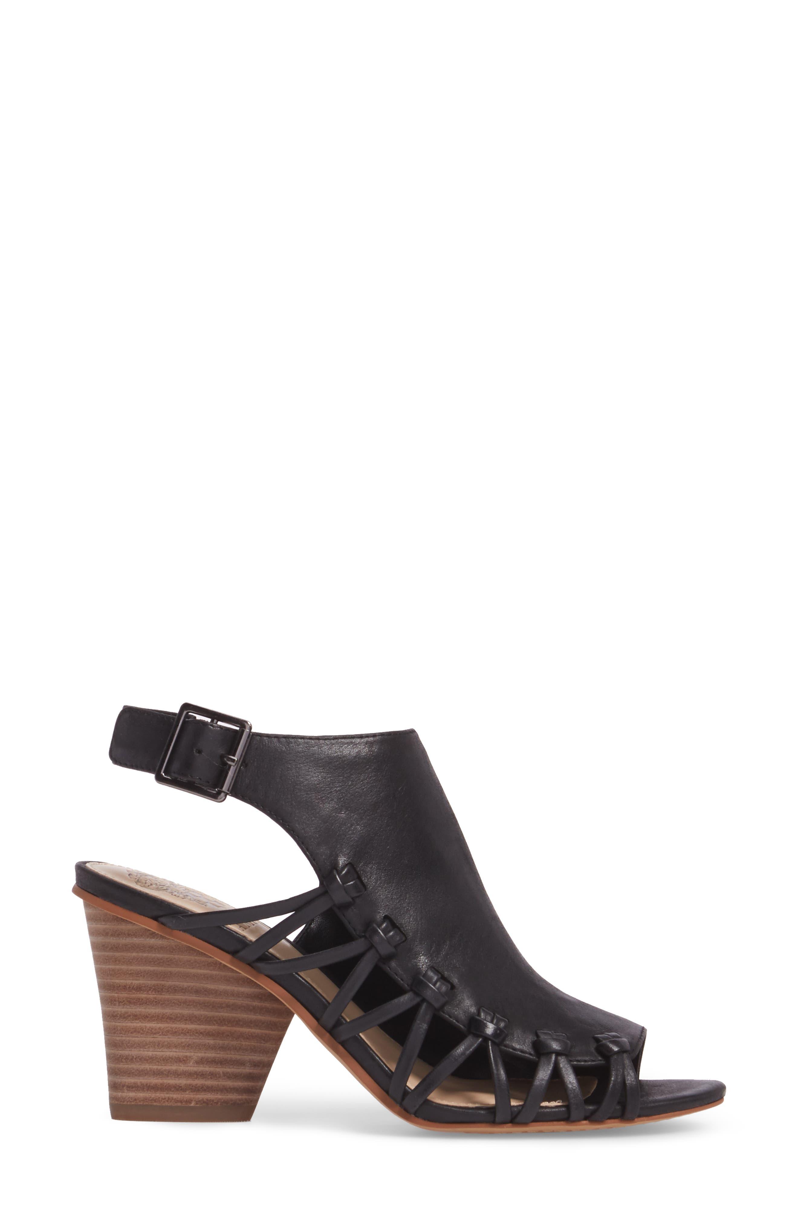 Ankara Sandal,                             Alternate thumbnail 3, color,                             Black Leather