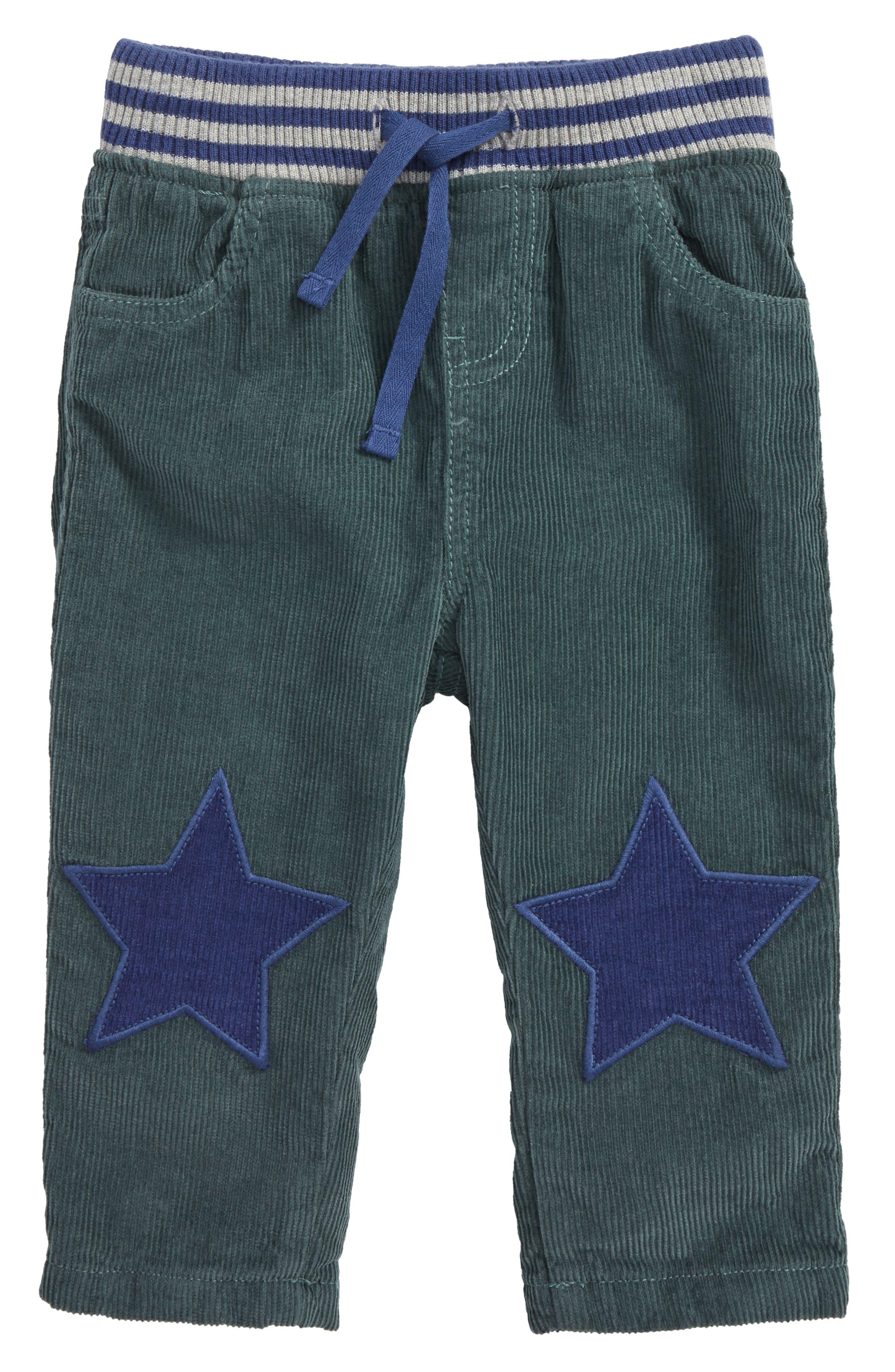 Mini Boden Star Patch Corduroy Pants (Baby Boys & Toddler Boys)